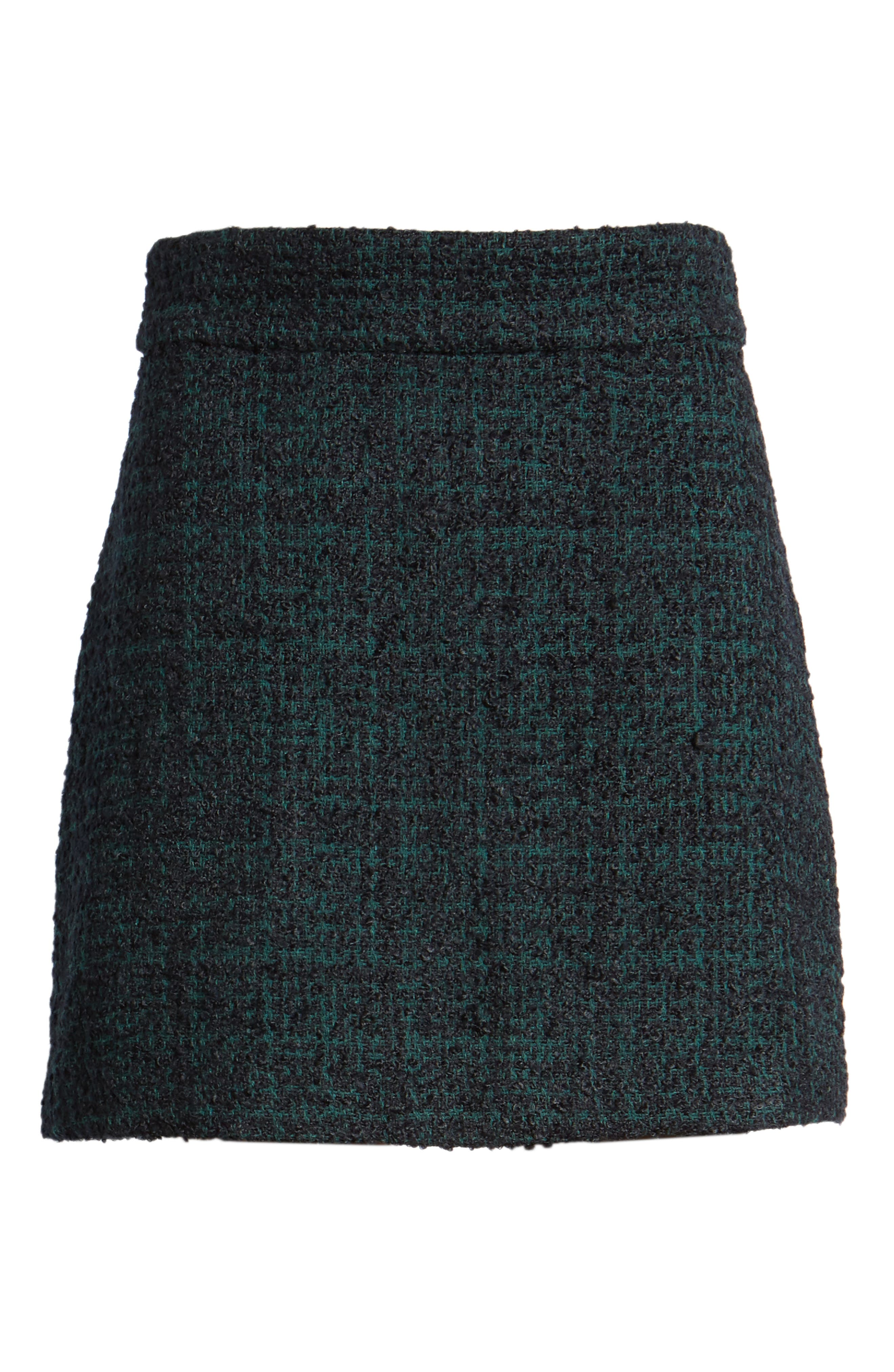Tweed Miniskirt,                             Alternate thumbnail 6, color,                             021
