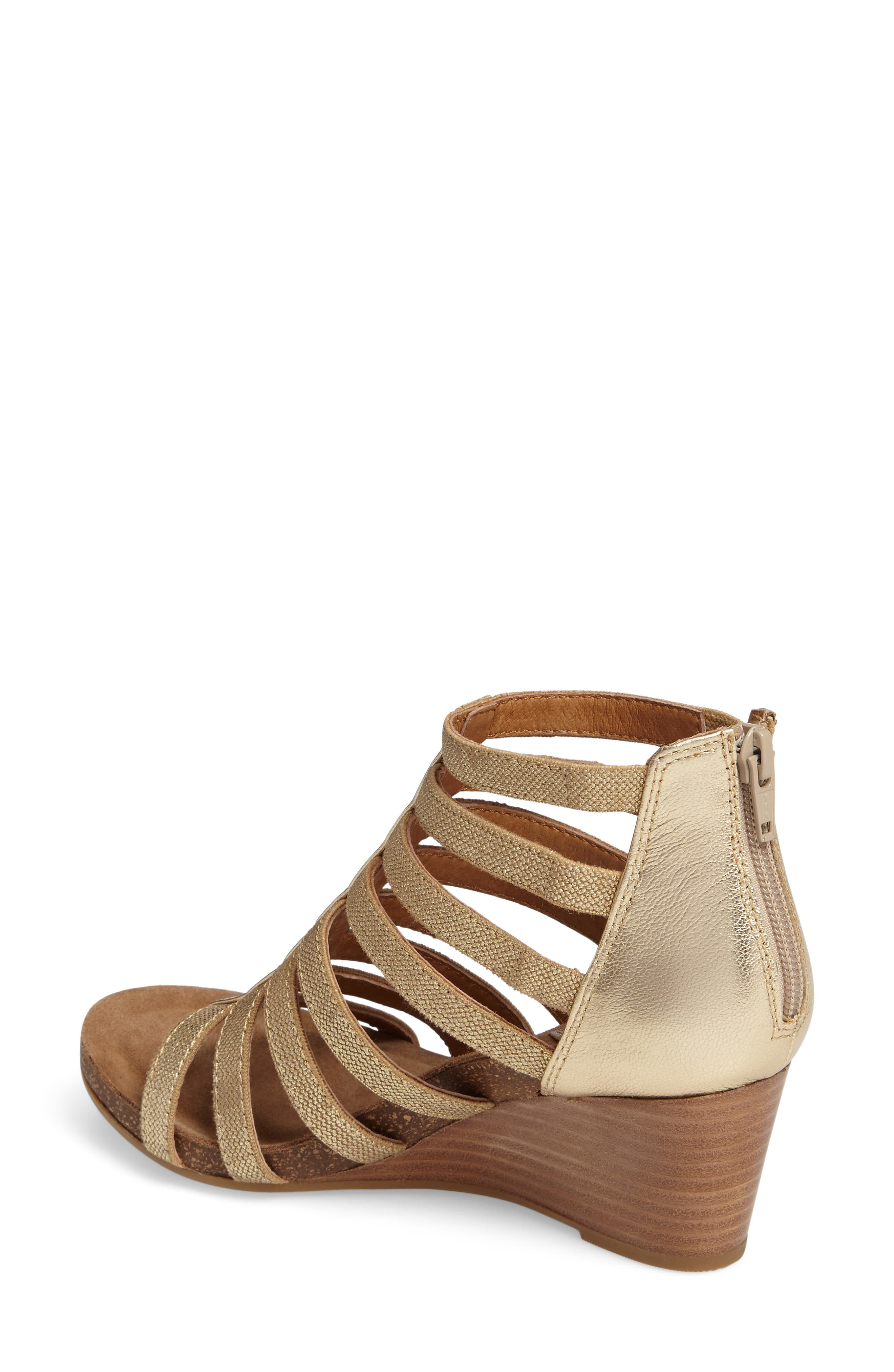 Mati Caged Wedge Sandal,                             Alternate thumbnail 6, color,