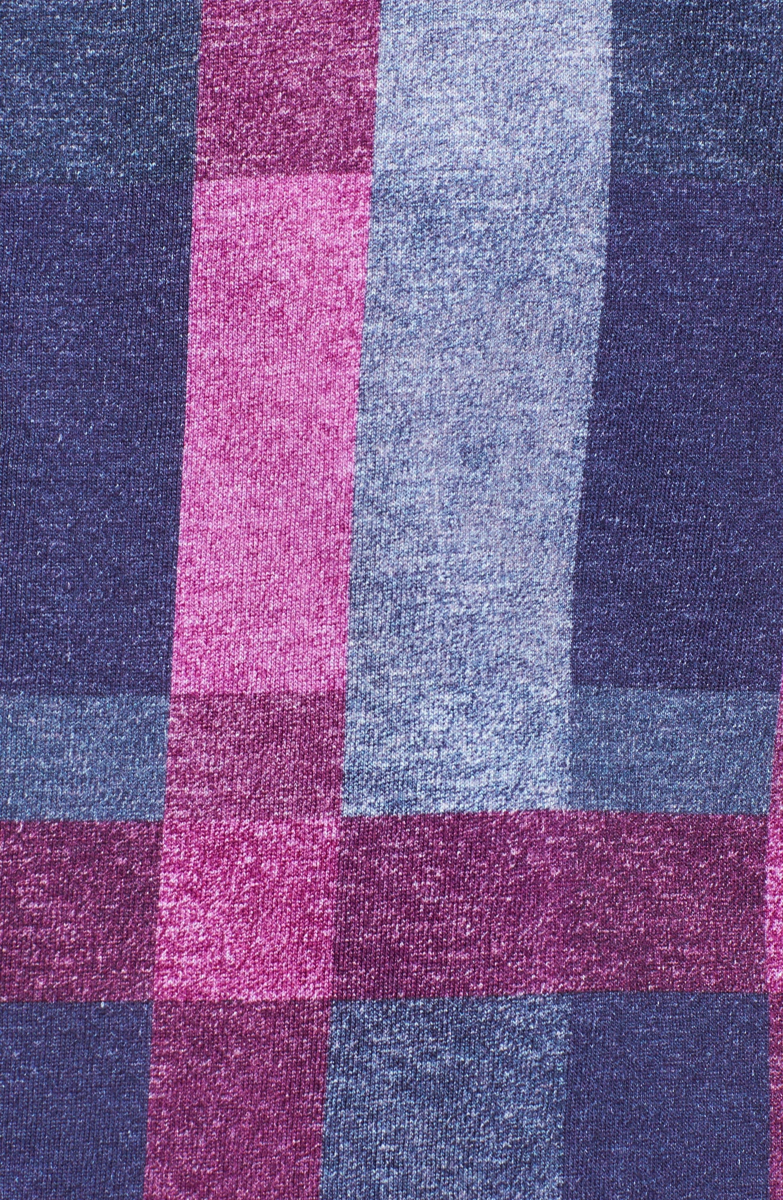Multicheck Print Knit Sport Shirt,                             Alternate thumbnail 5, color,                             410