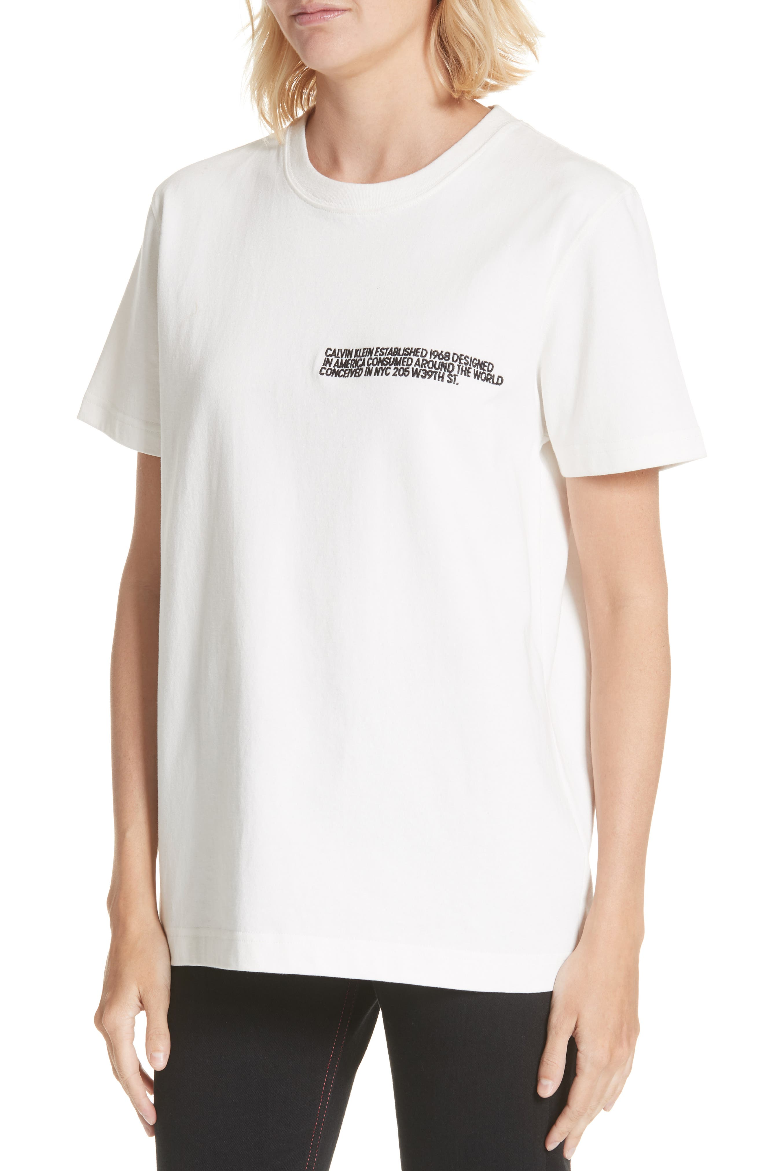 205 Logo Tee,                             Alternate thumbnail 4, color,                             WHITE