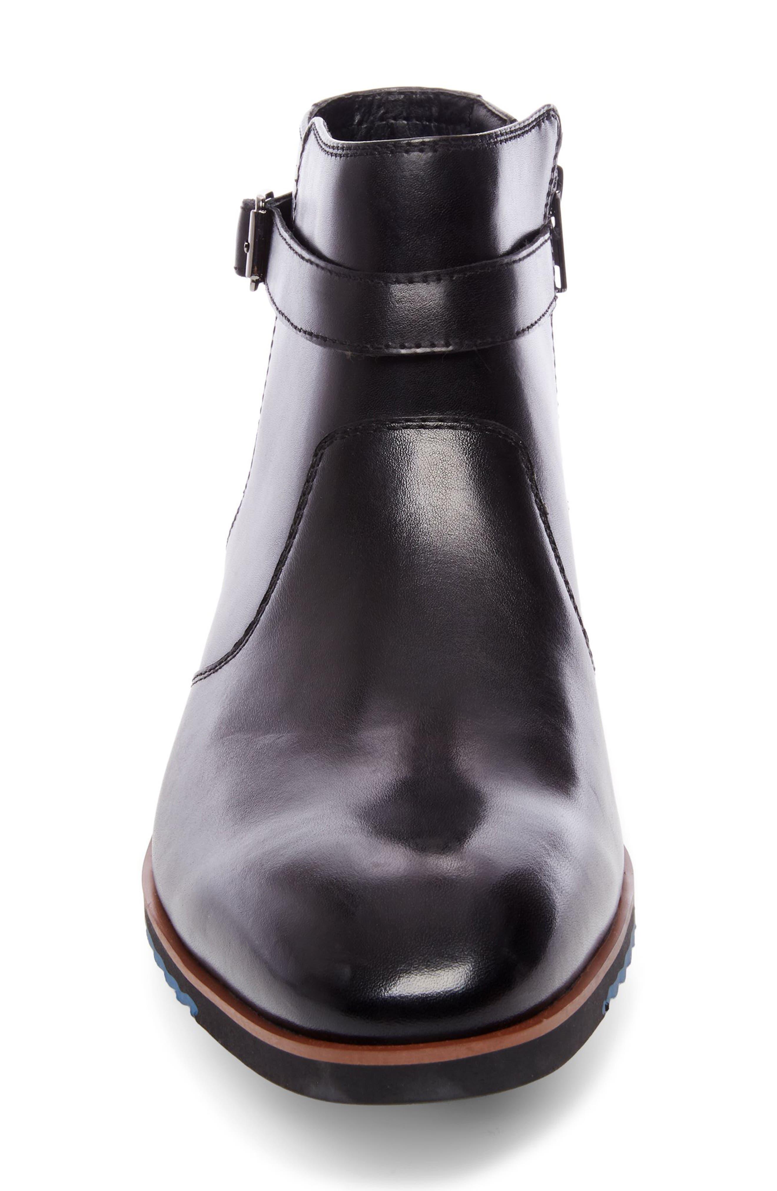 Levant Boot,                             Alternate thumbnail 4, color,                             BLACK LEATHER