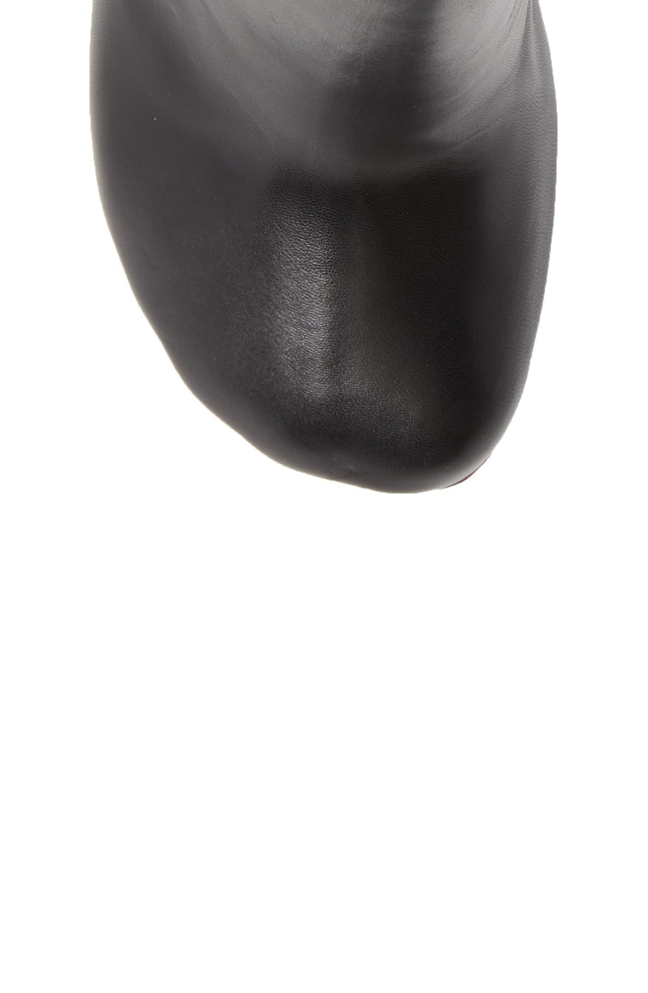Lighter Heel Mule,                             Alternate thumbnail 5, color,                             BLACK/ BLACK HEEL