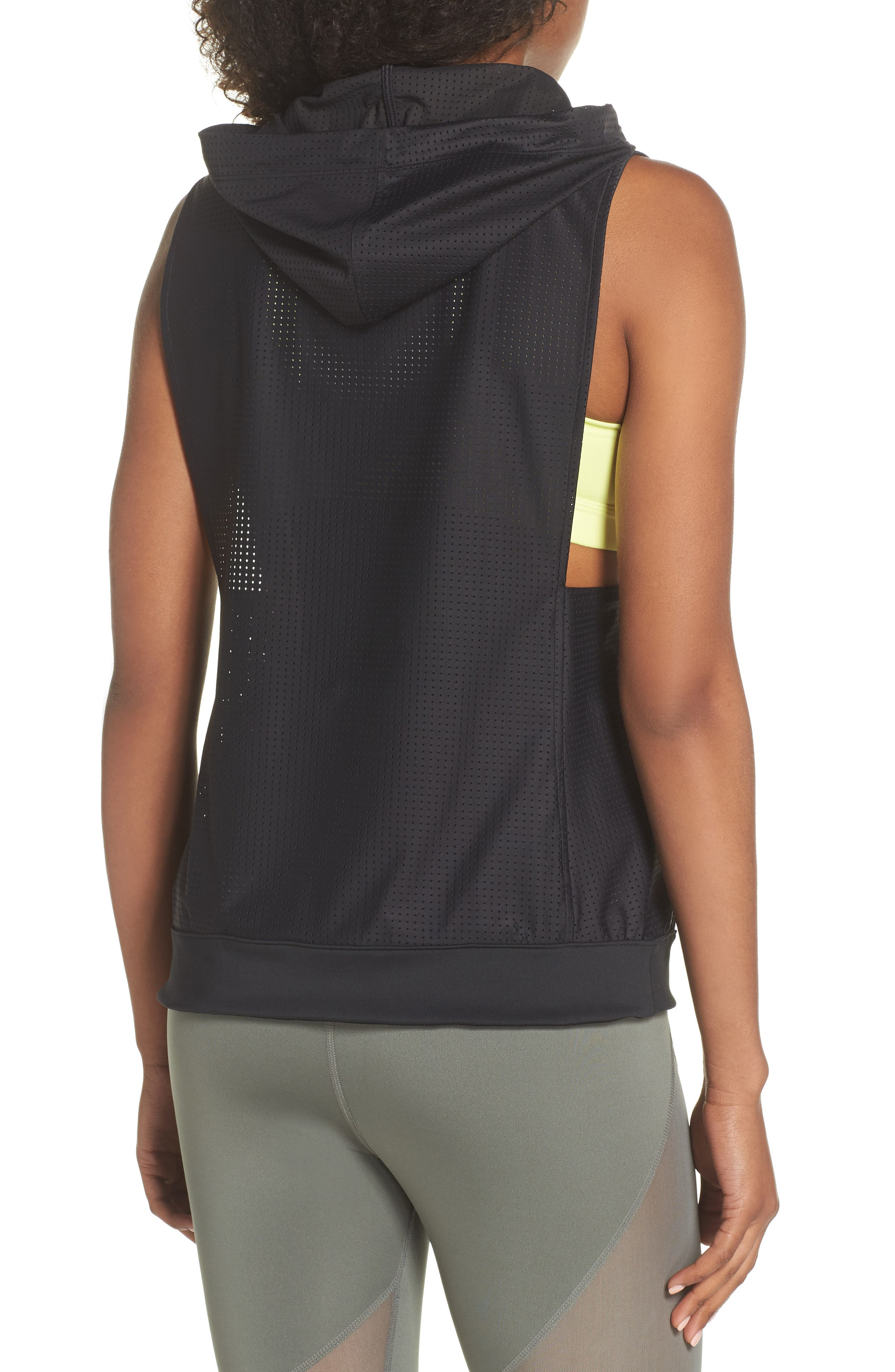 Punch Sleeveless Hoodie,                             Alternate thumbnail 2, color,                             003