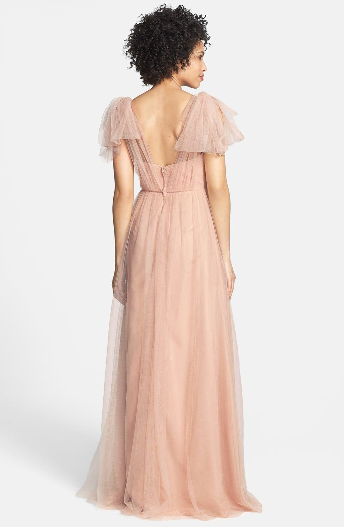 Annabelle Convertible Tulle Column Dress,                             Alternate thumbnail 196, color,