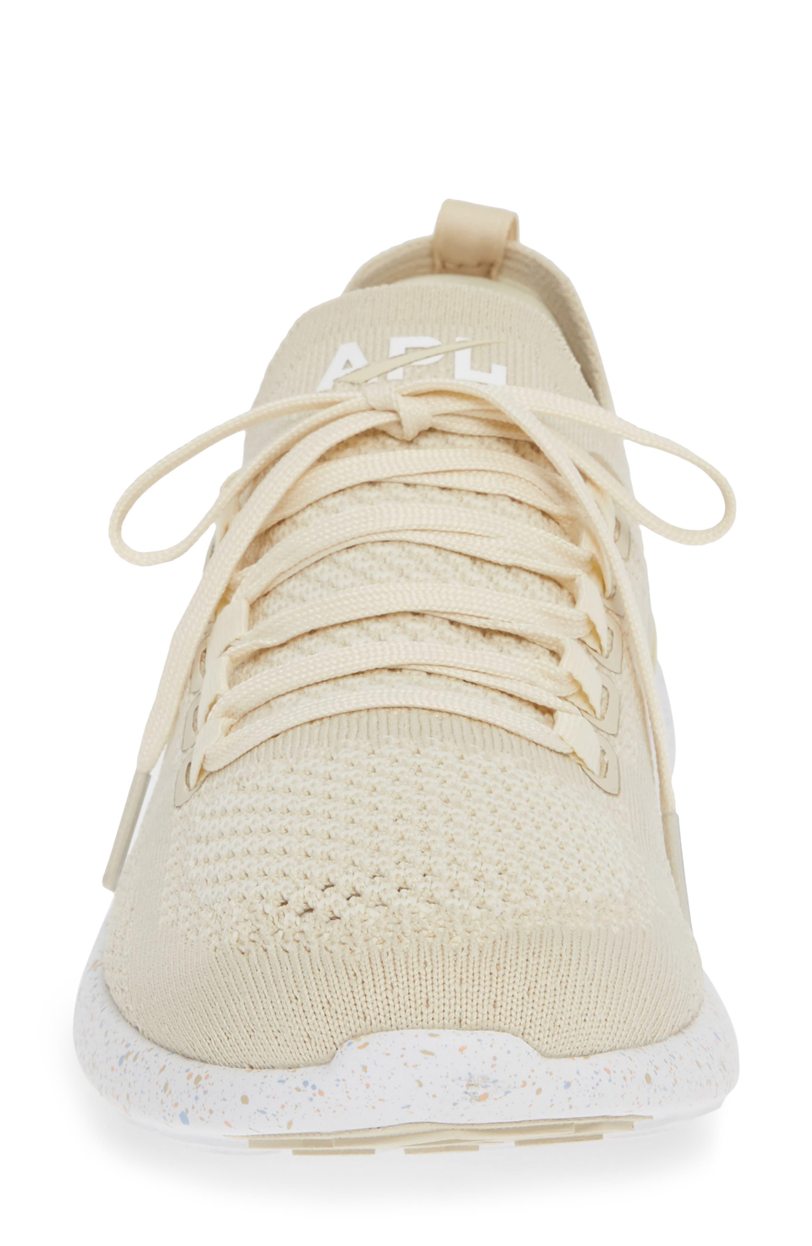 APL,                             TechLoom Breeze Knit Running Shoe,                             Alternate thumbnail 4, color,                             PARCHMENT/ BLUSH/ SKY