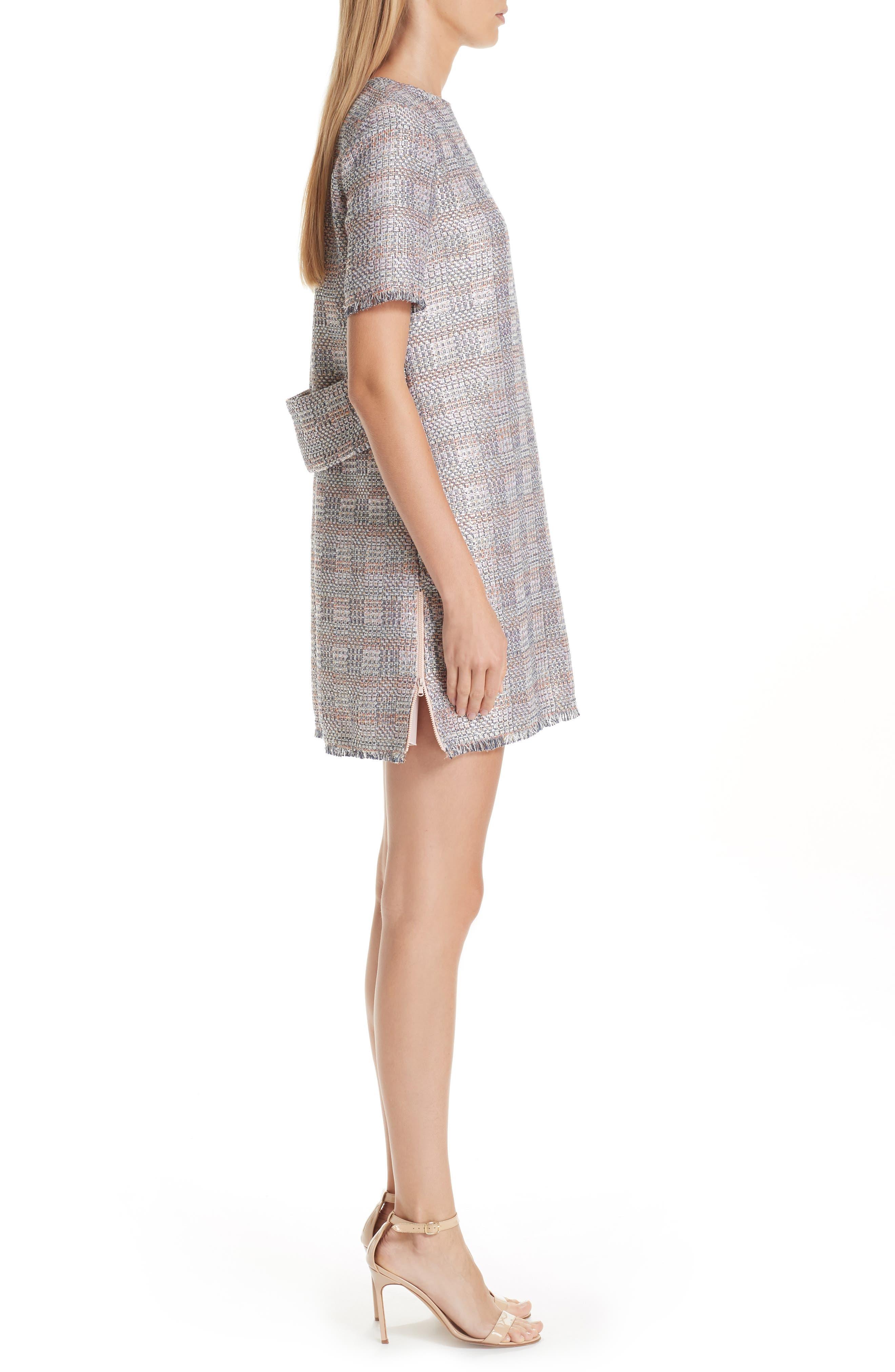 Check Woven Dress,                             Alternate thumbnail 3, color,                             MULTICOLOR