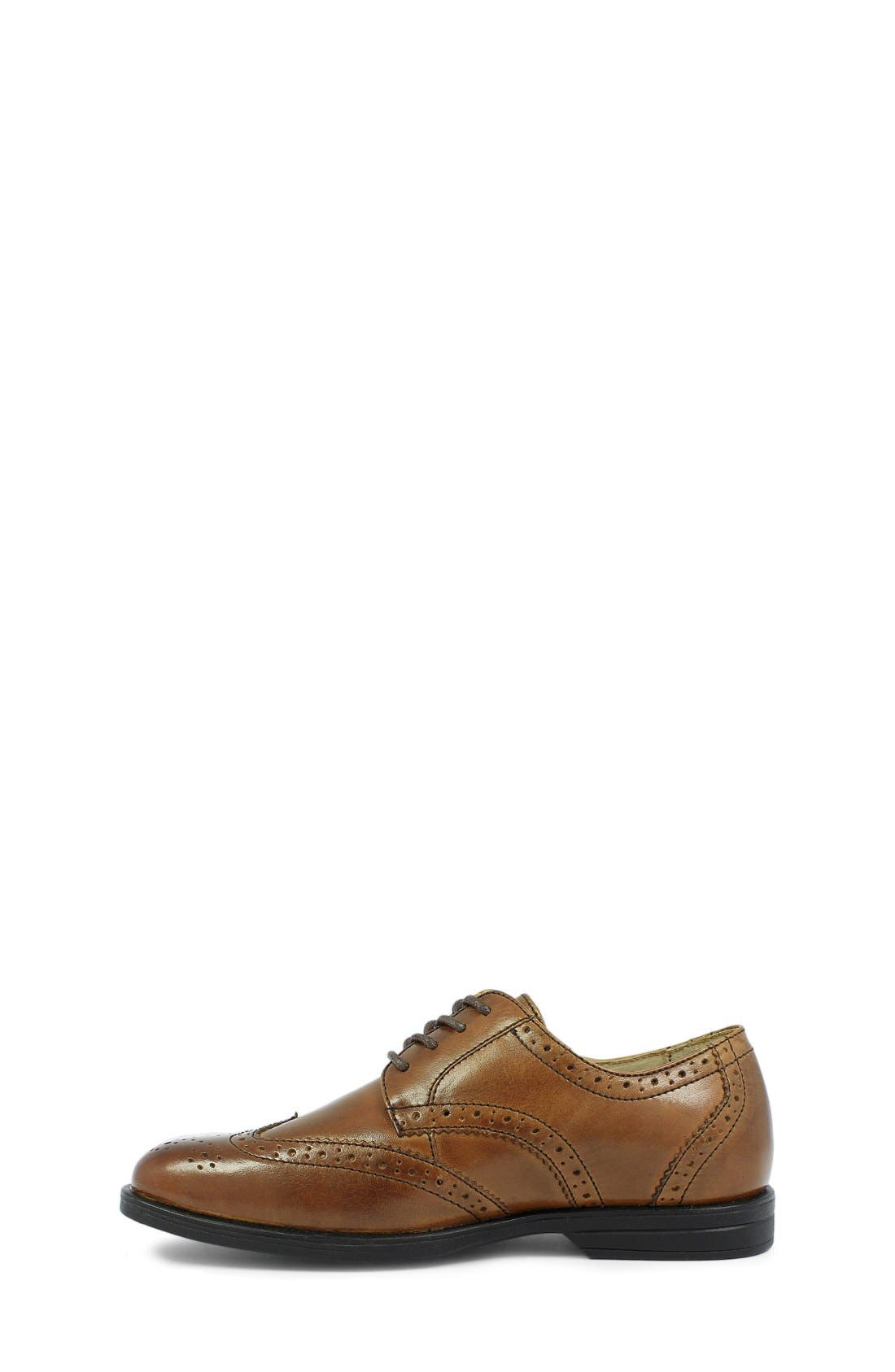 'Reveal' Wingtip Oxford,                             Alternate thumbnail 2, color,                             COGNAC LEATHER