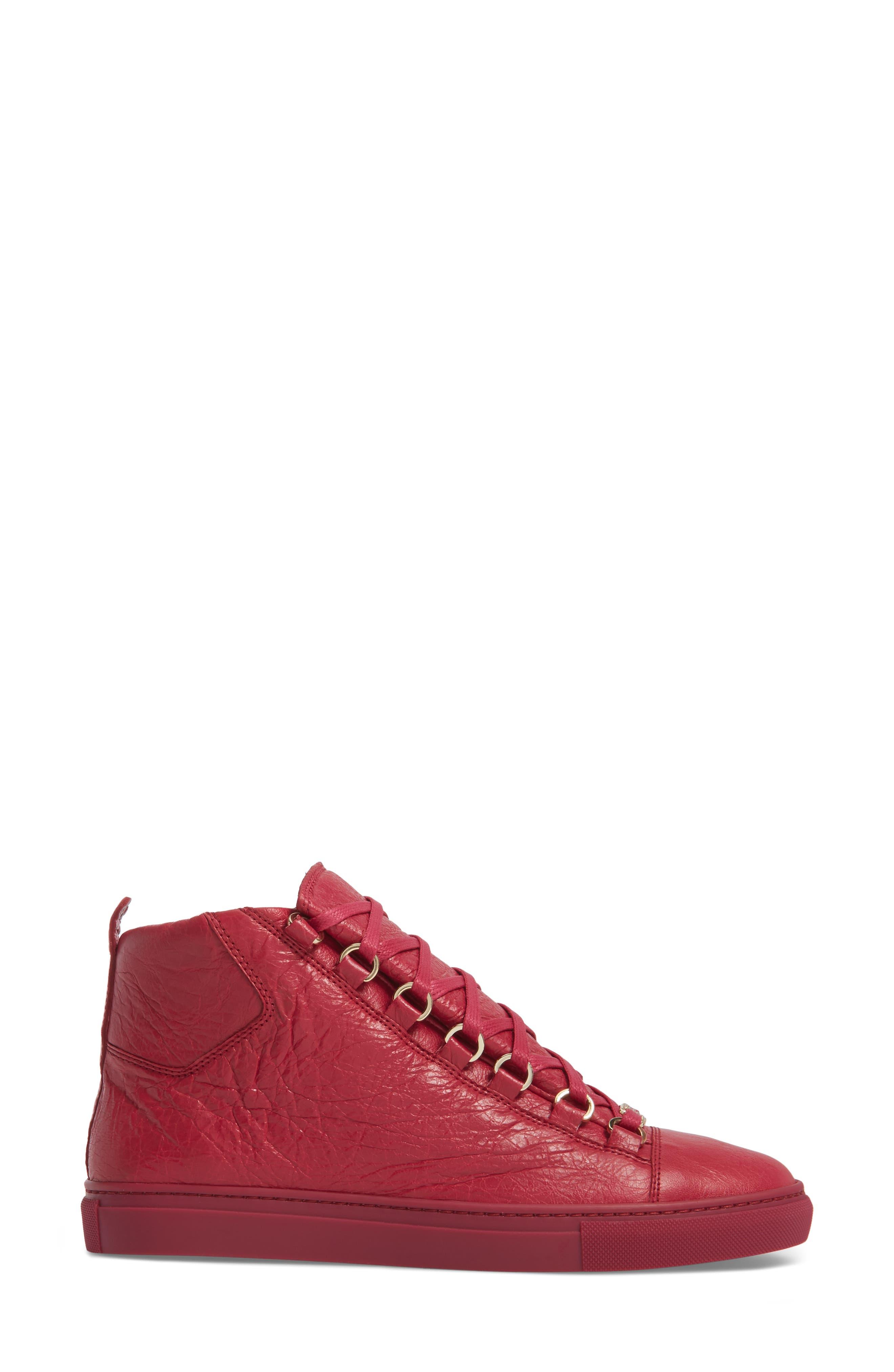 BALENCIAGA,                             High Top Sneaker,                             Alternate thumbnail 3, color,                             600