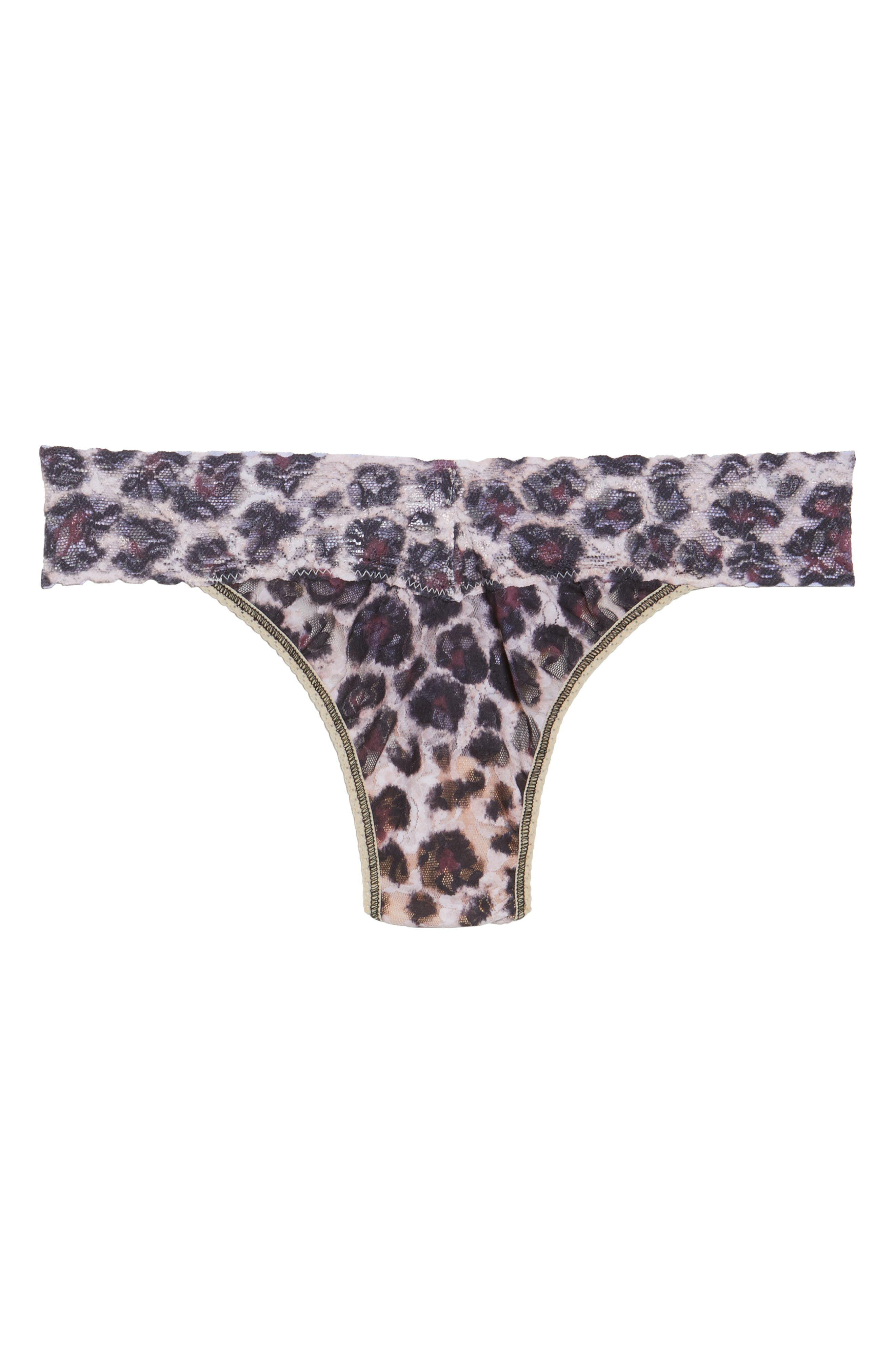 Print Original Rise Thong,                             Alternate thumbnail 4, color,                             SOPHISTICATE