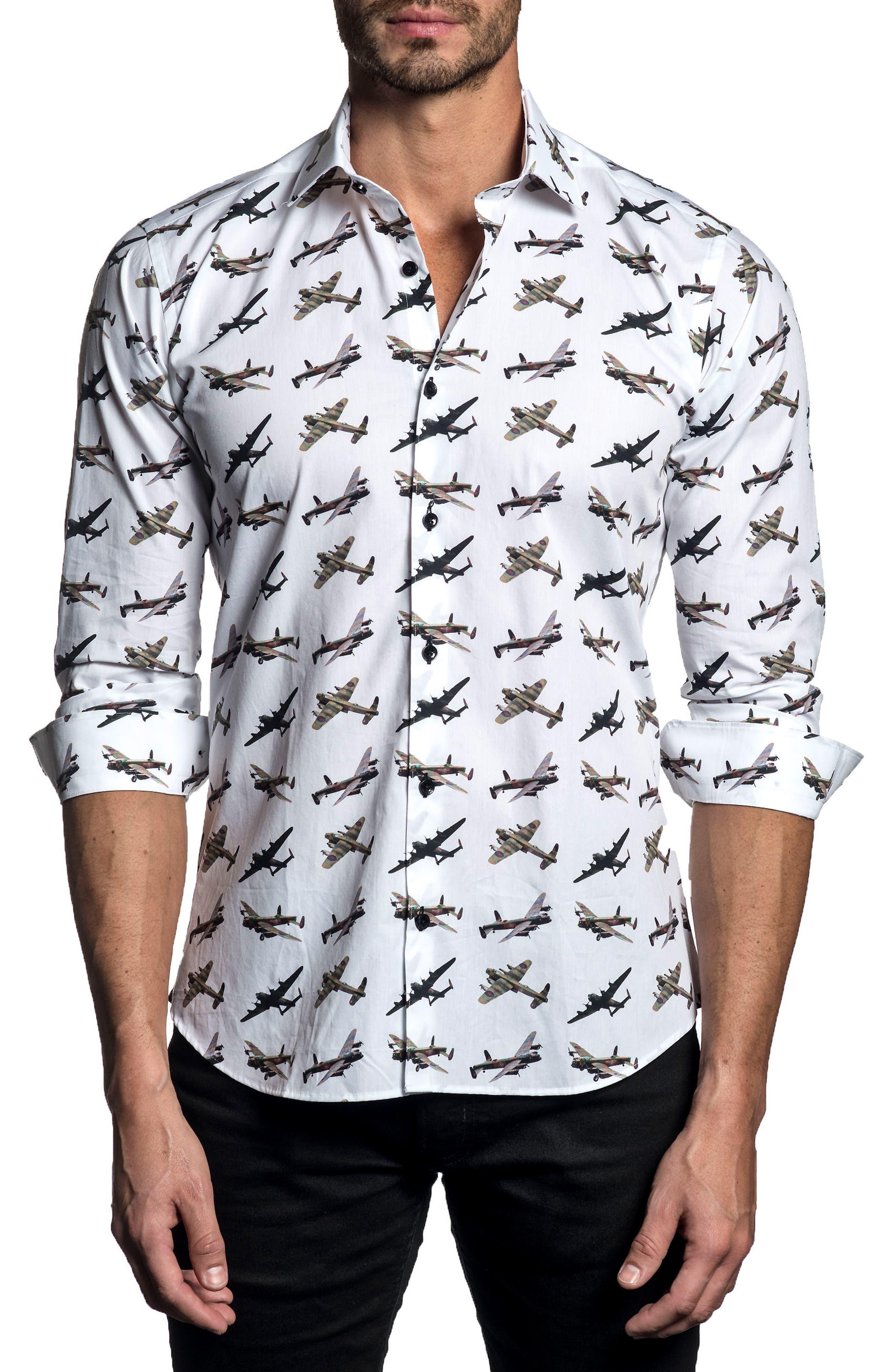 Trim Fit Print Sport Shirt,                         Main,                         color,