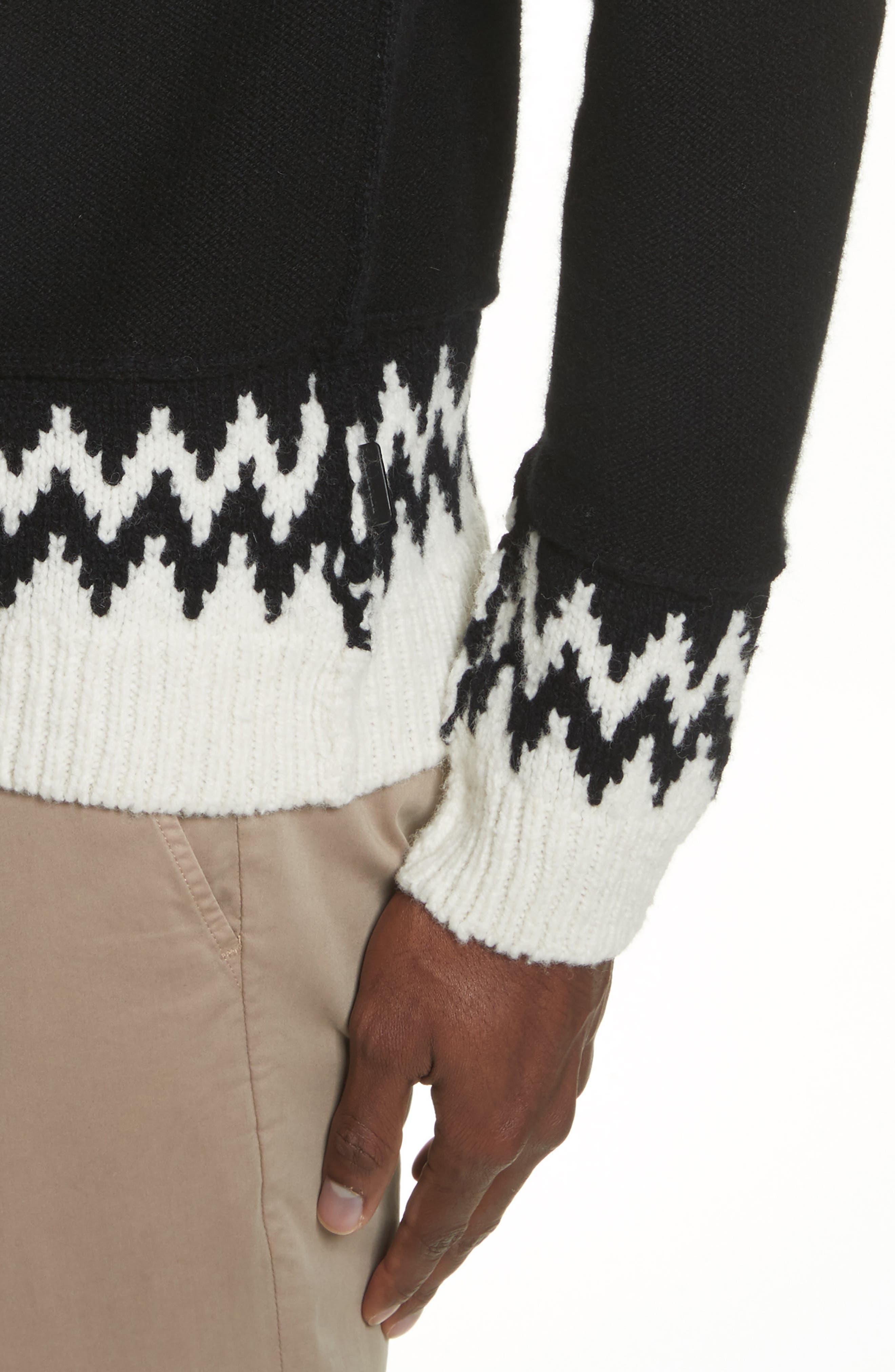 Rycroft Wool & Cashmere Blend Sweater,                             Alternate thumbnail 4, color,                             001