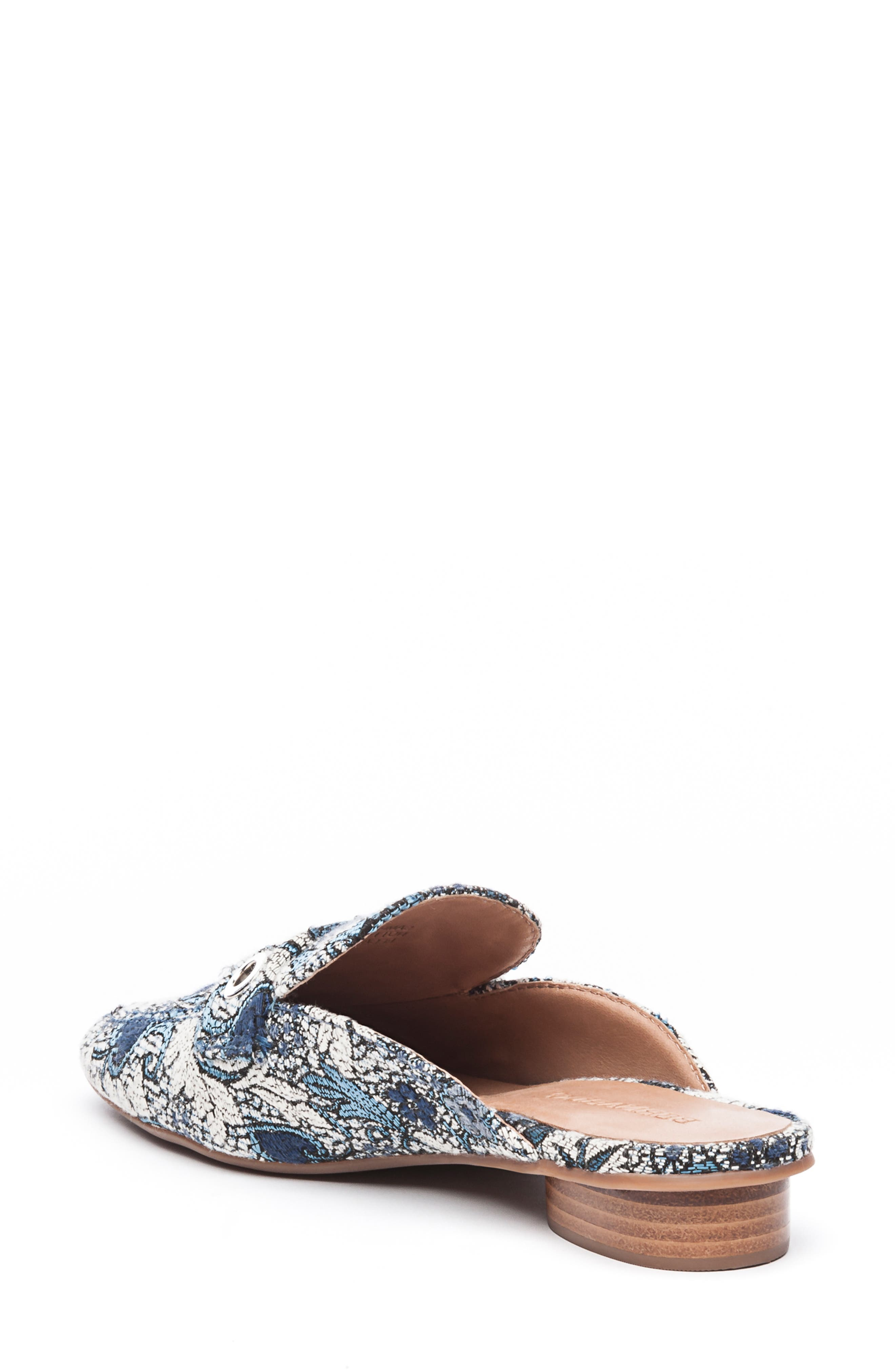 Bernardo Jen Mule,                             Alternate thumbnail 2, color,                             BLUE JACQUARD LEATHER