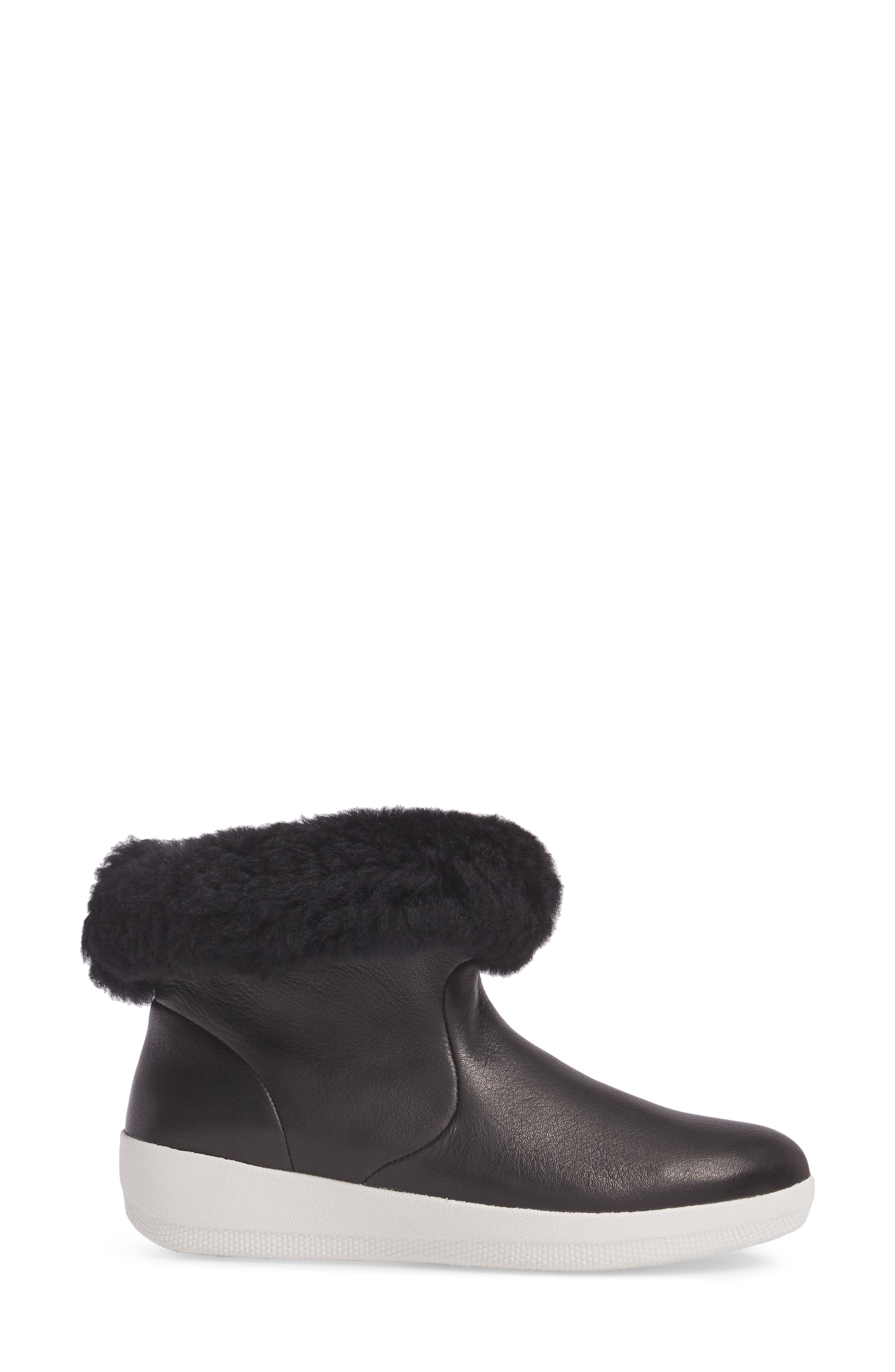 Skatebootie<sup>™</sup> with Genuine Shearling Cuff,                             Alternate thumbnail 5, color,