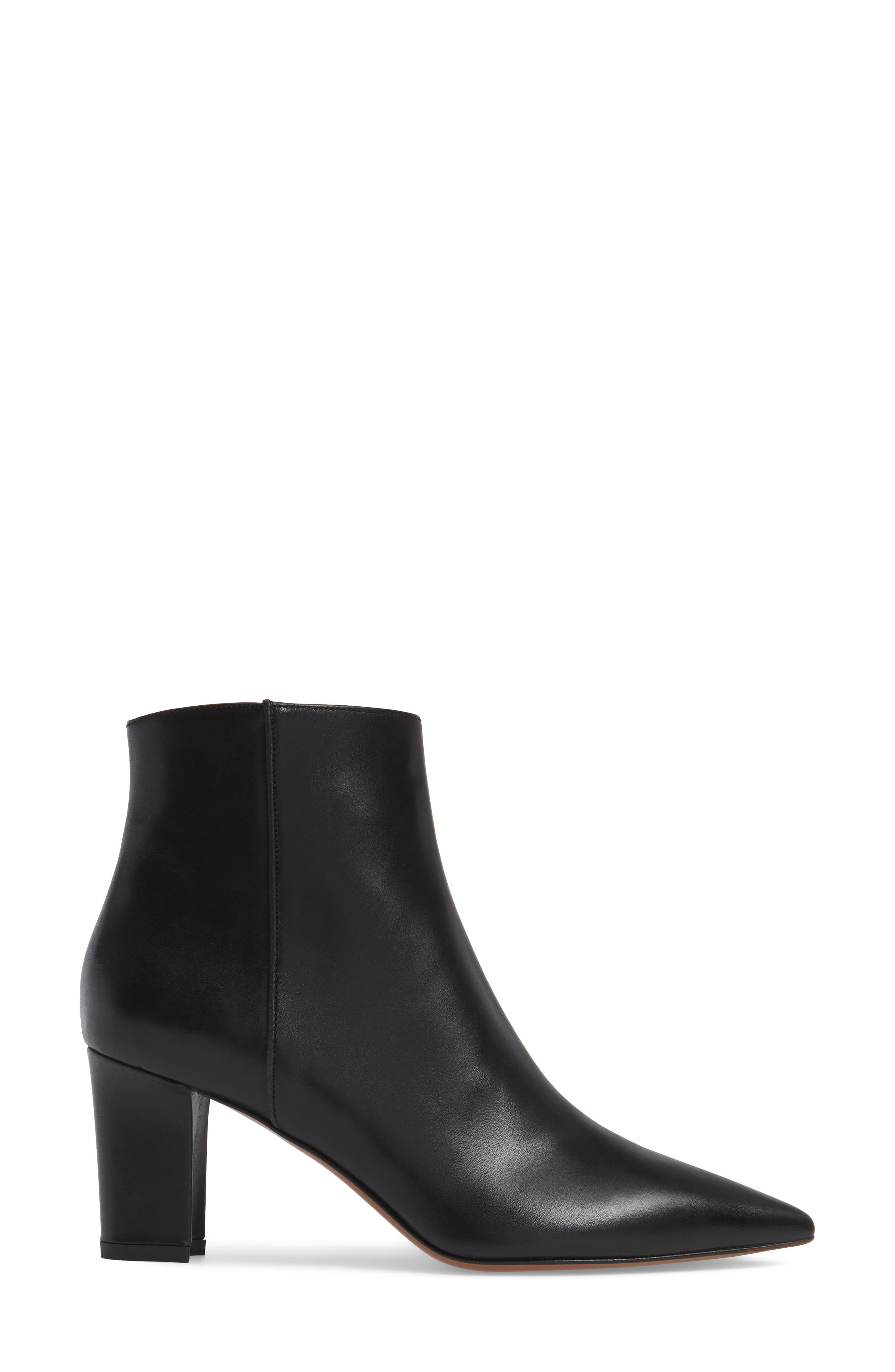 Maia Weatherproof Pointed Toe Bootie,                             Alternate thumbnail 3, color,                             002