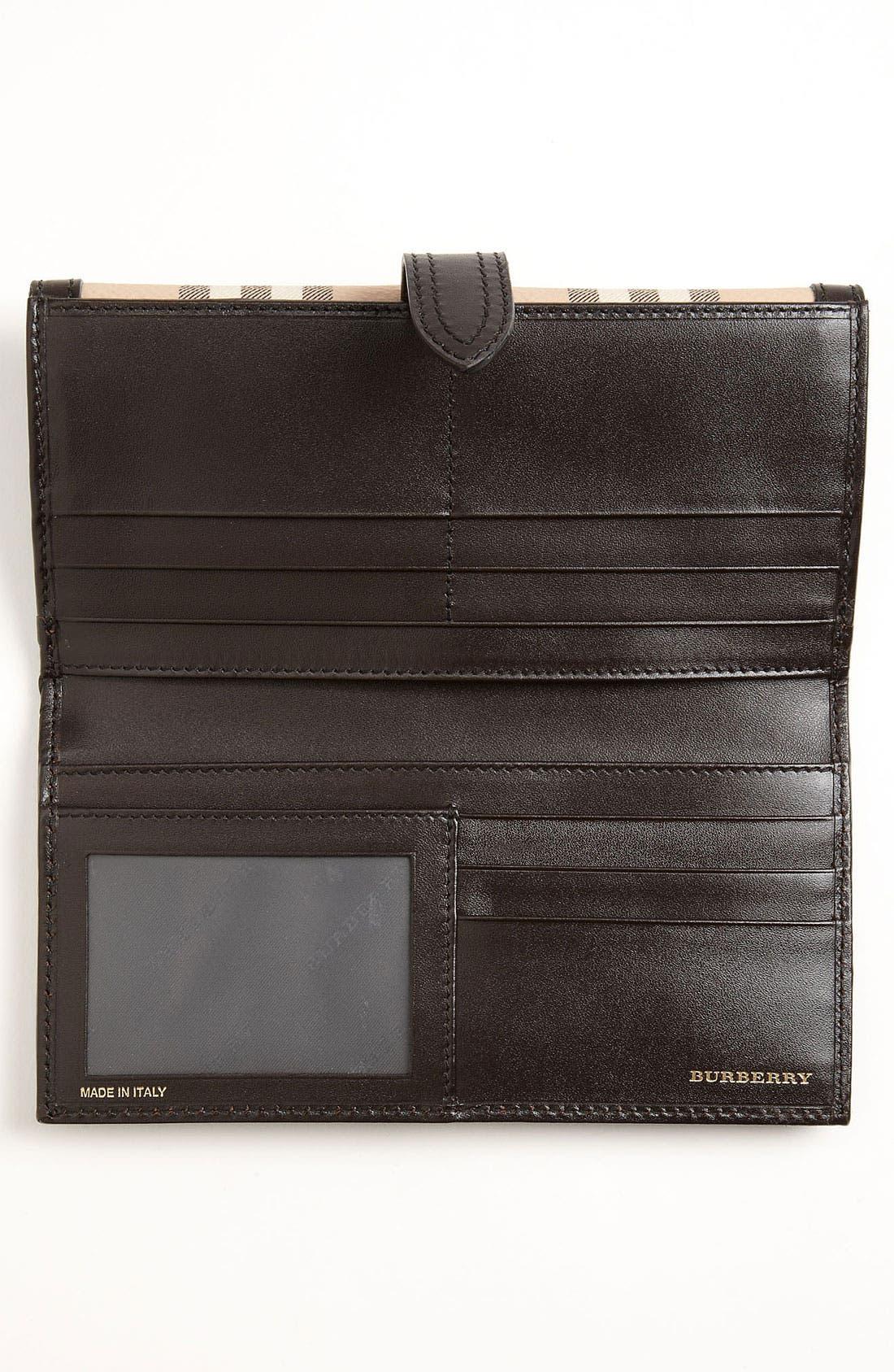 'Haymarket Check' Checkbook Wallet,                             Alternate thumbnail 4, color,
