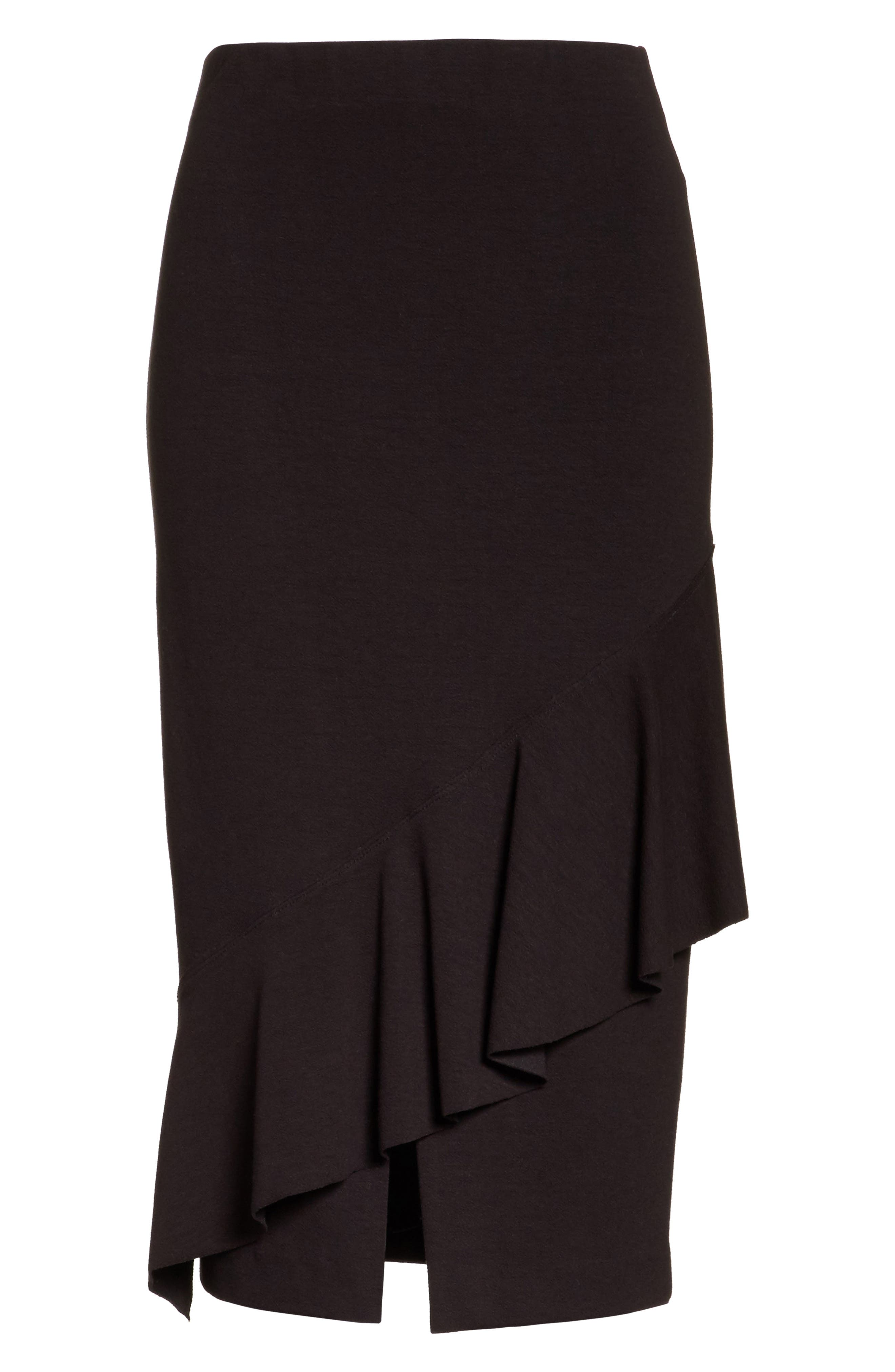 Three-Vent Skirt,                             Alternate thumbnail 6, color,                             001