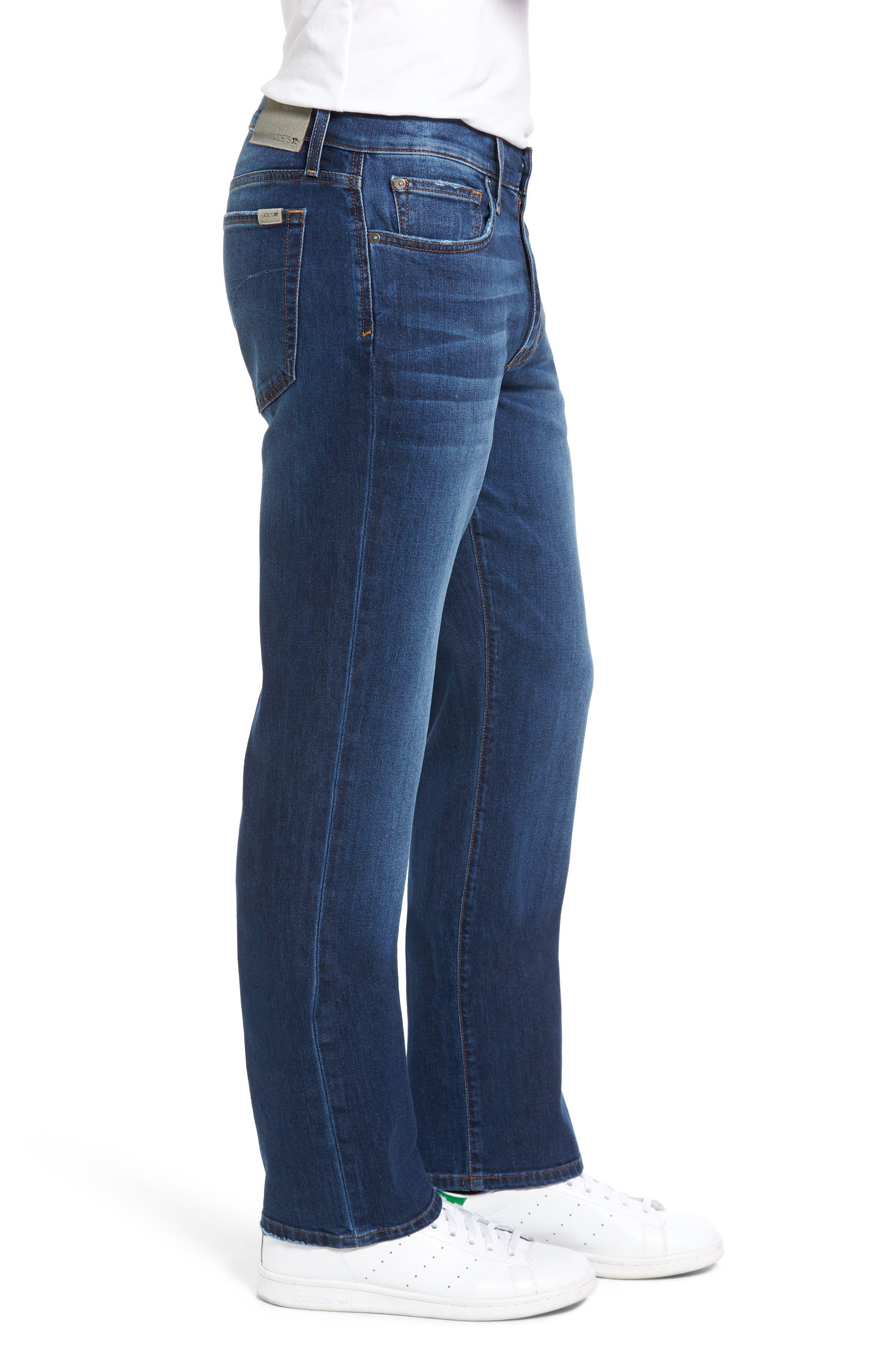 Classic Straight Leg Jeans,                             Alternate thumbnail 3, color,                             410