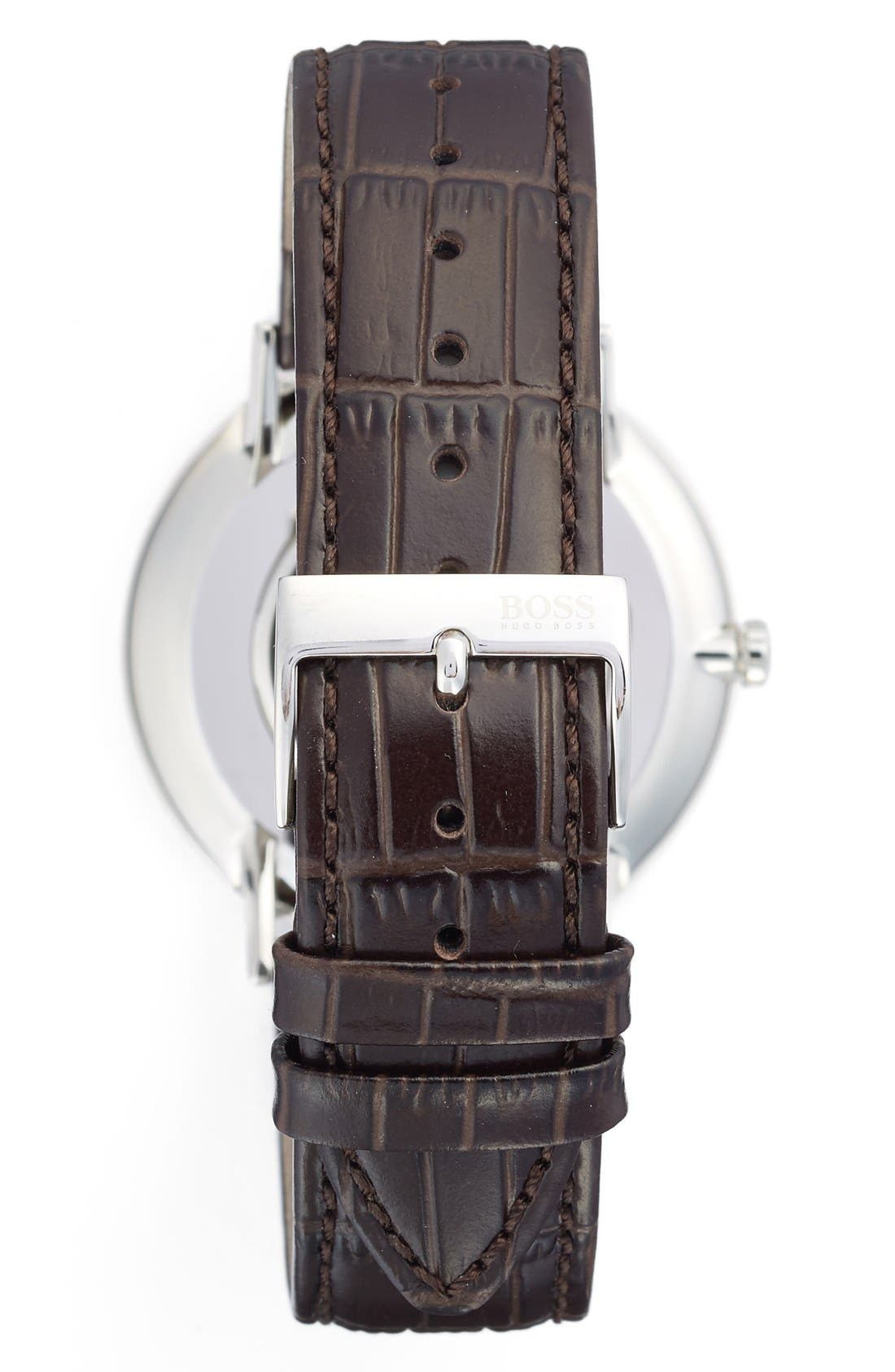 Ultra Slim Leather Strap Watch, 40mm,                             Alternate thumbnail 12, color,