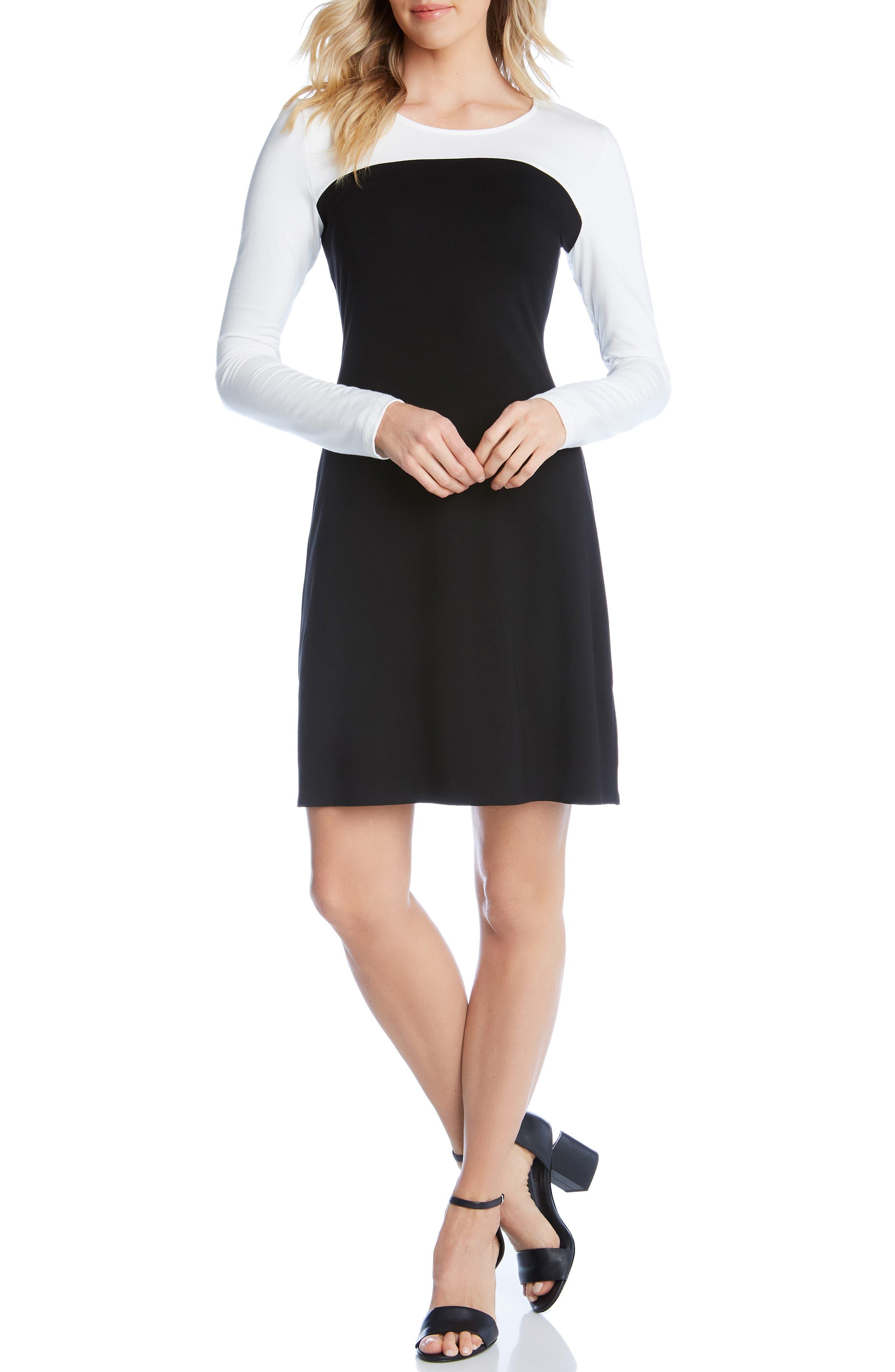 Karen Kane Colorblock Sheath Dress, Black