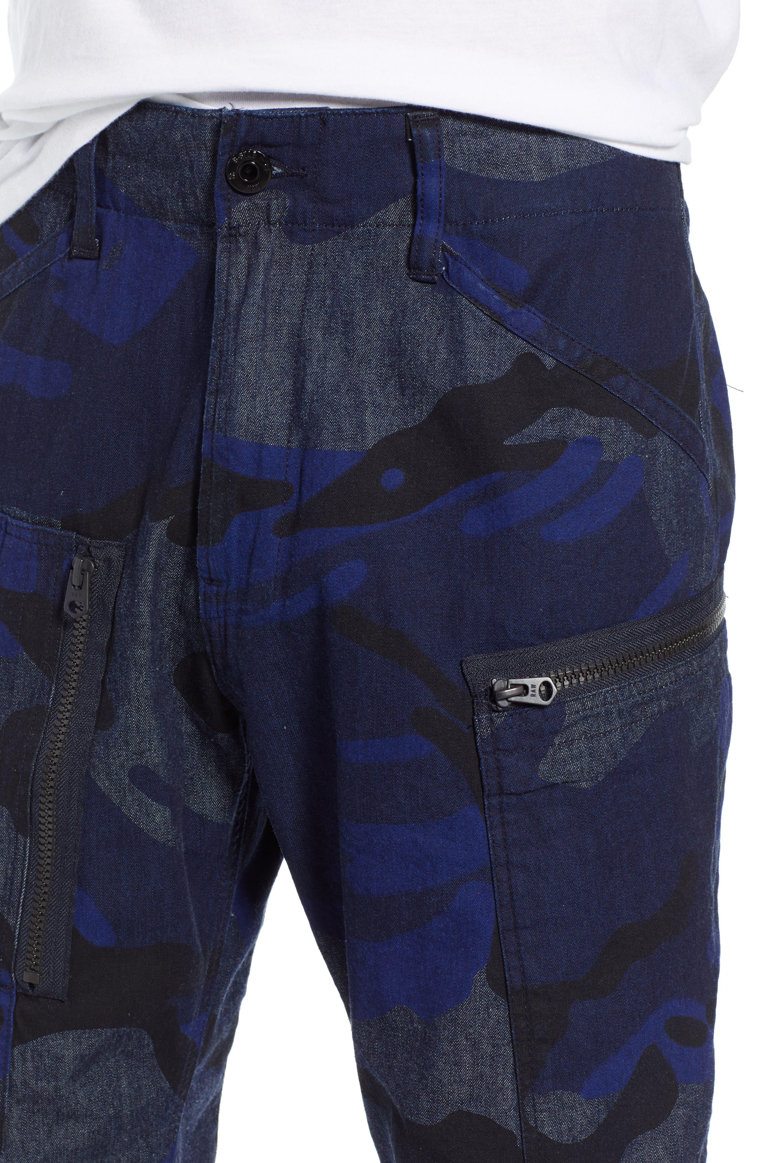 Powel Tapered Pants,                             Alternate thumbnail 4, color,                             RAW DENIM/ PHANTOM BLUE