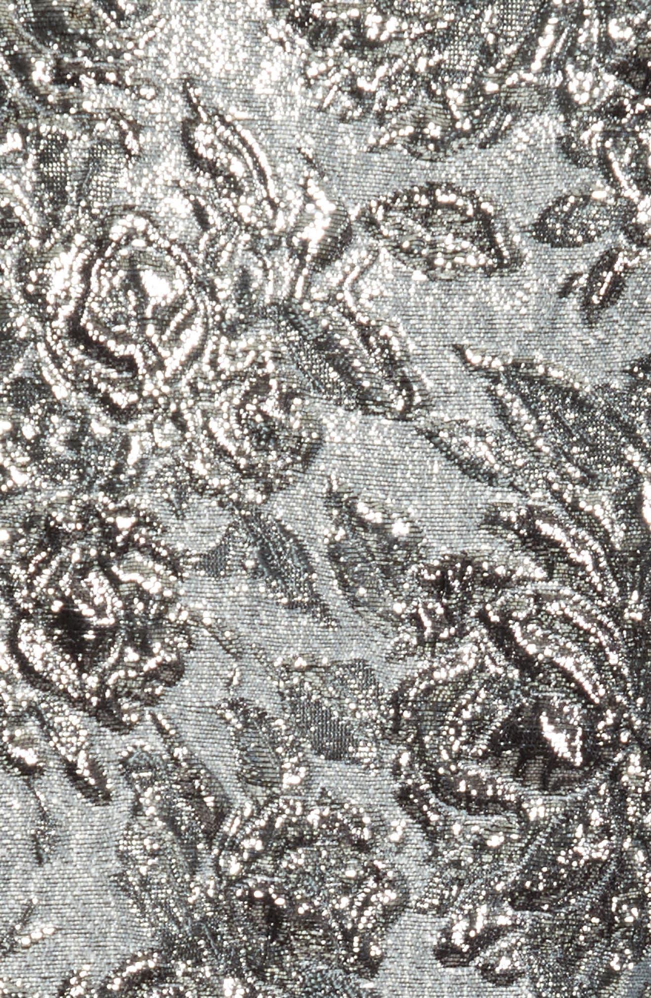 Mixed Media Metallic Sweater Dress,                             Alternate thumbnail 5, color,