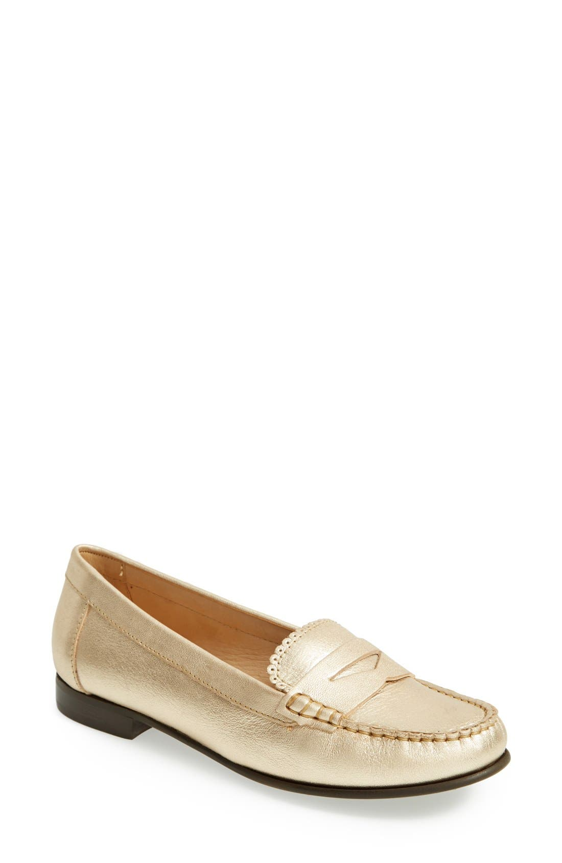 'Quinn' Leather Loafer,                             Main thumbnail 2, color,