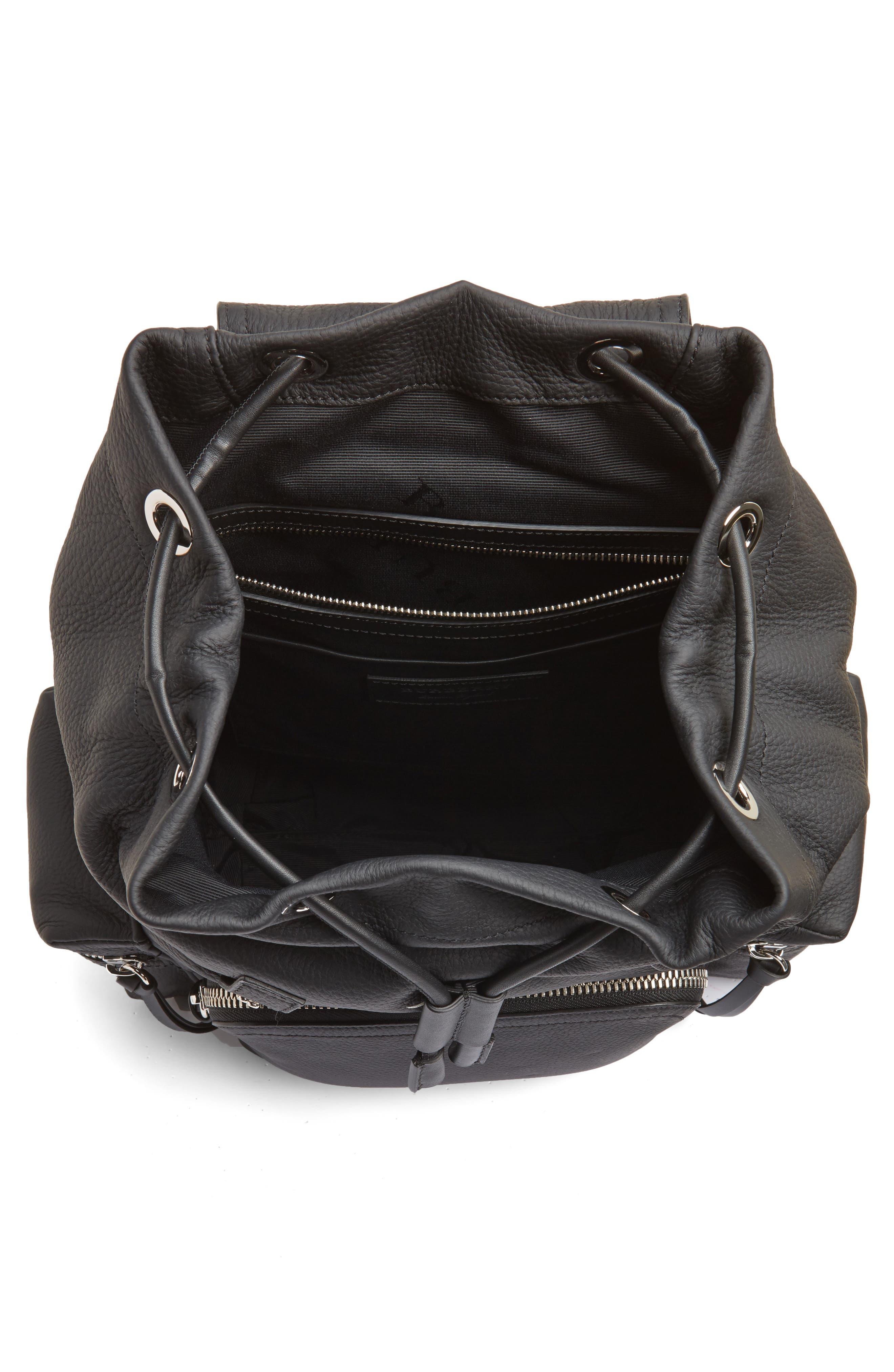 Medium Rucksack Leather Backpack,                             Alternate thumbnail 4, color,