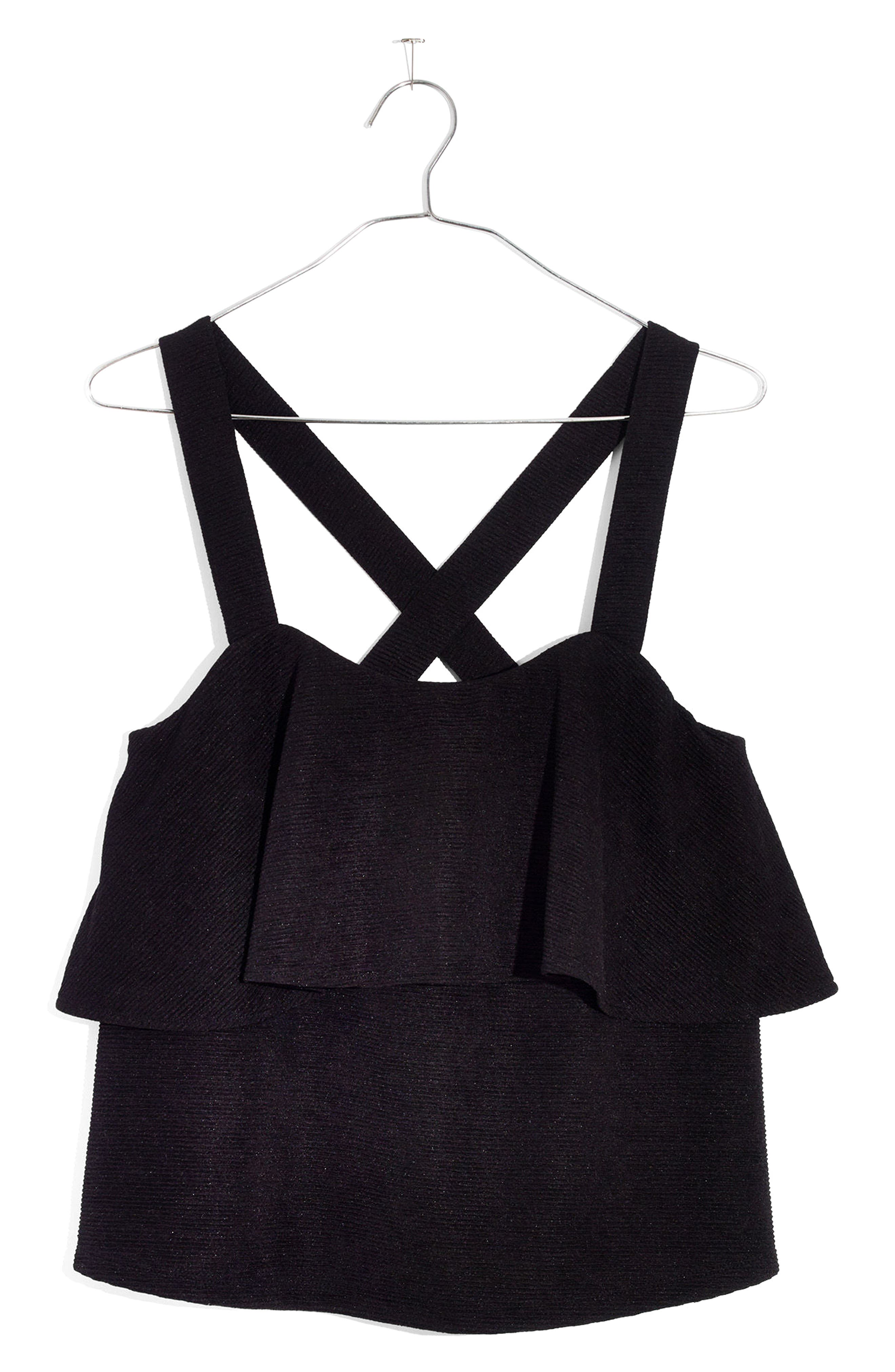 Texture & Thread Tiered Tank,                         Main,                         color, 001