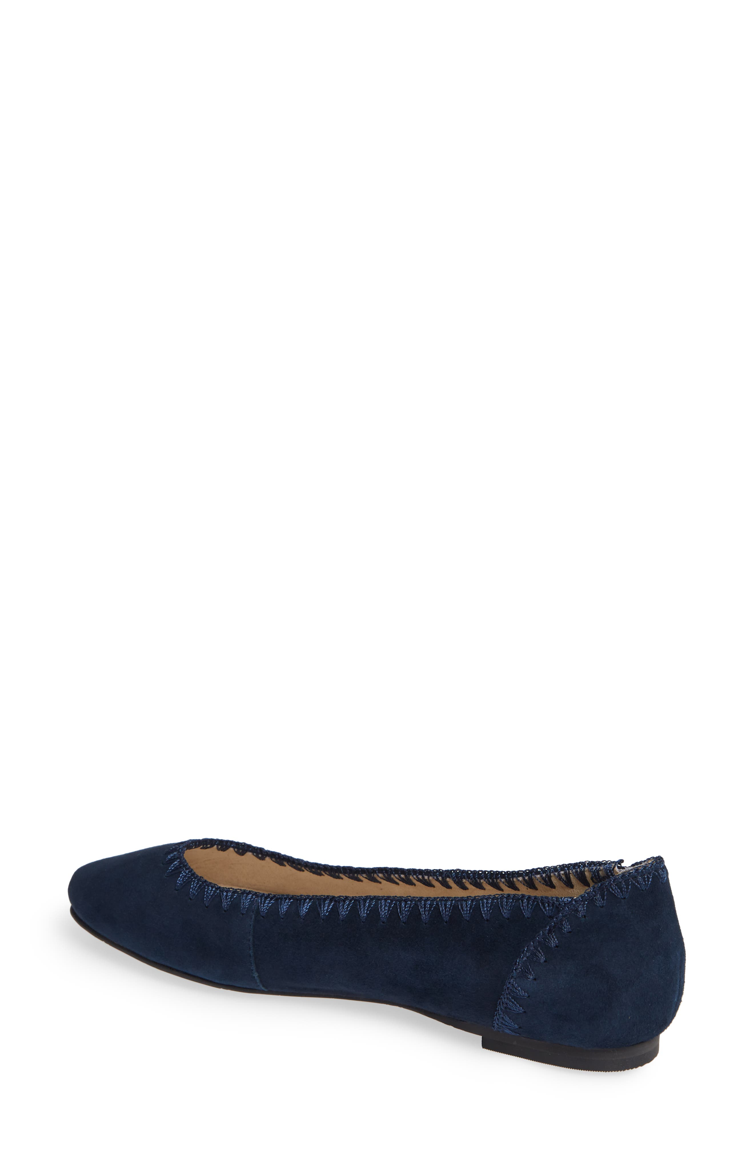 Ellie II Flat,                             Alternate thumbnail 2, color,                             MIDNIGHT BLUE SUEDE