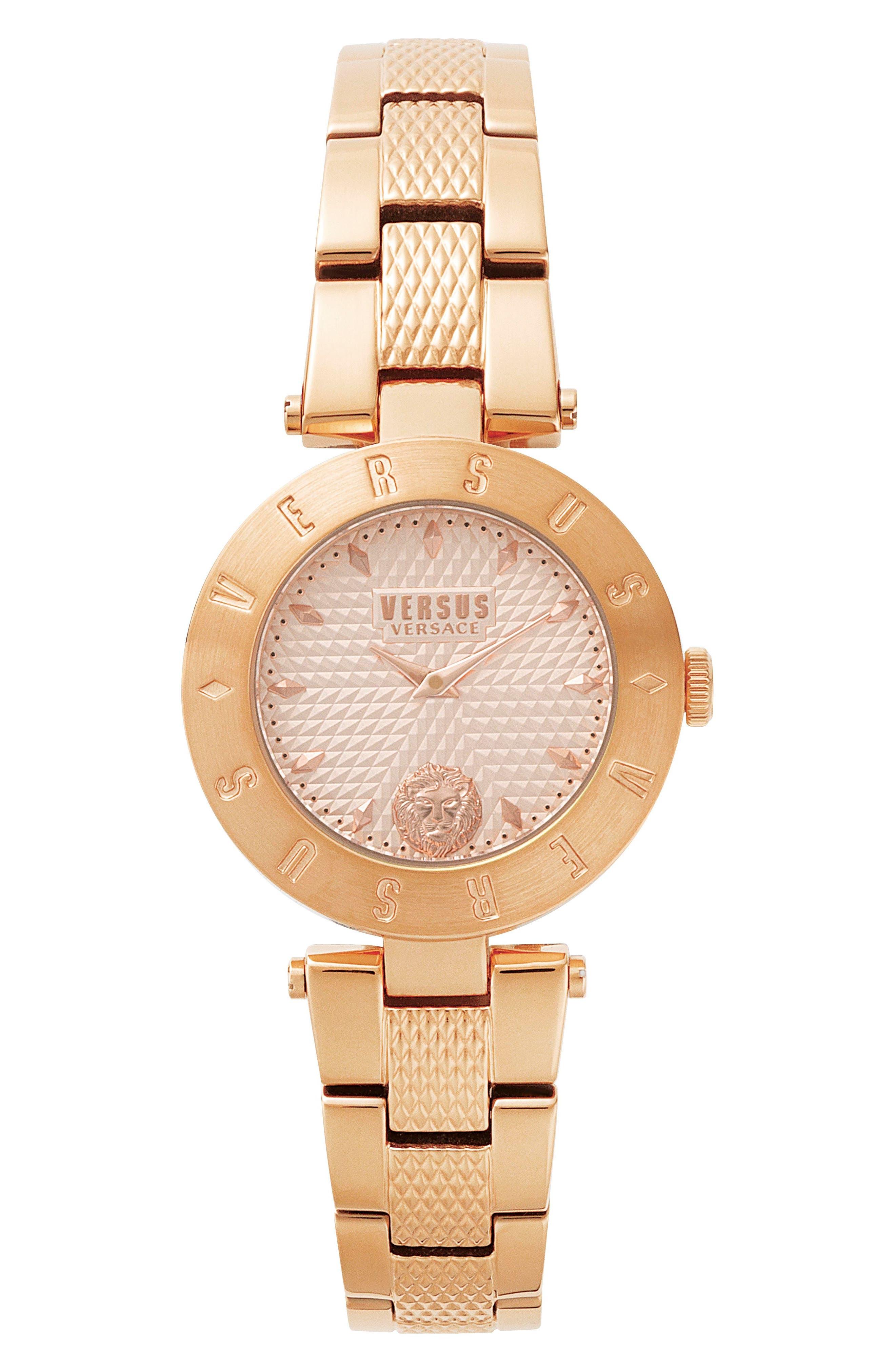 Versus by Versace New Logo Bracelet Watch, 34mm,                             Main thumbnail 3, color,