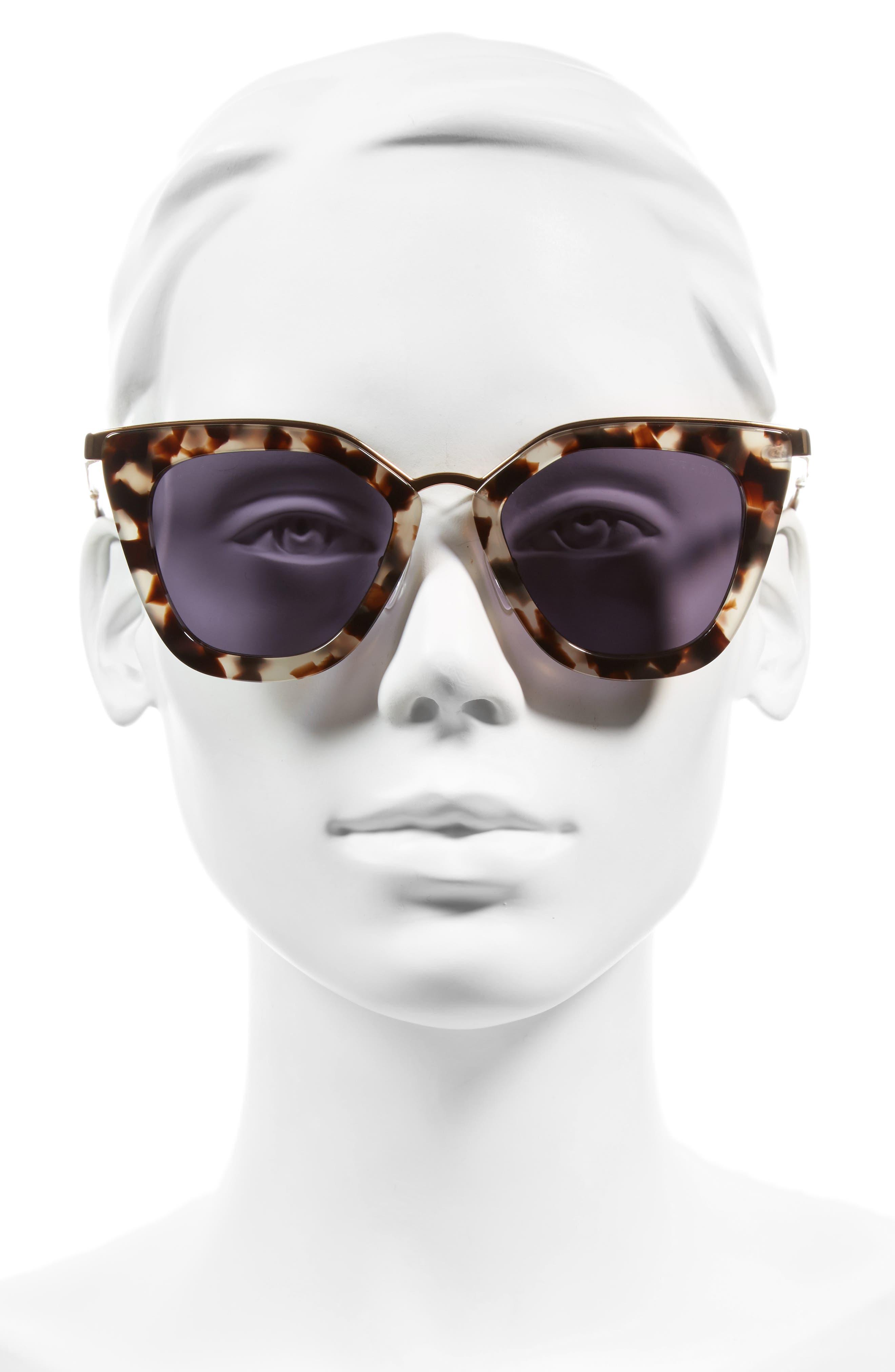 52mm Layered Frame Sunglasses,                             Alternate thumbnail 3, color,