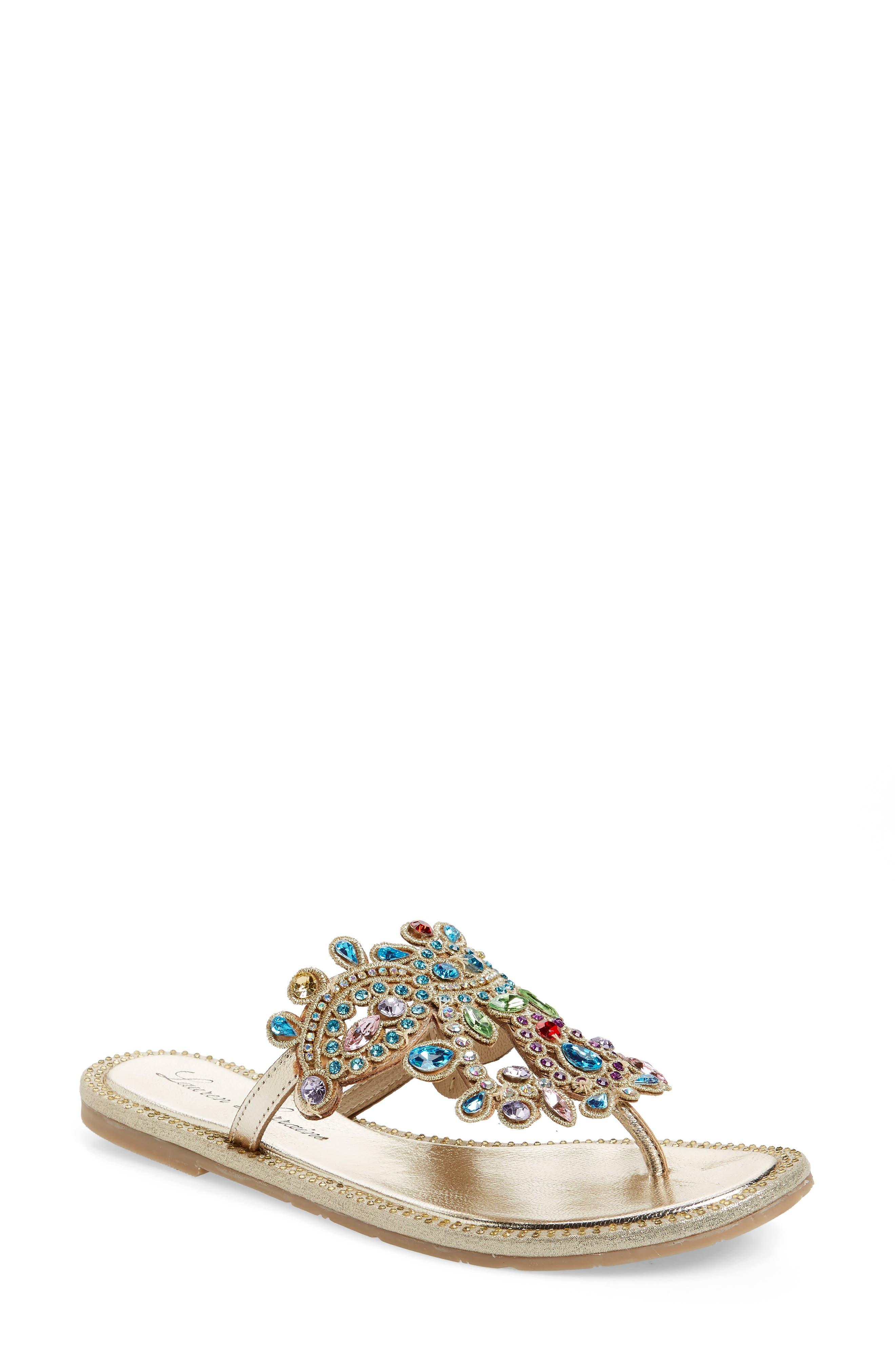 Lauren Lorraine St. Tropez Sandal- Metallic