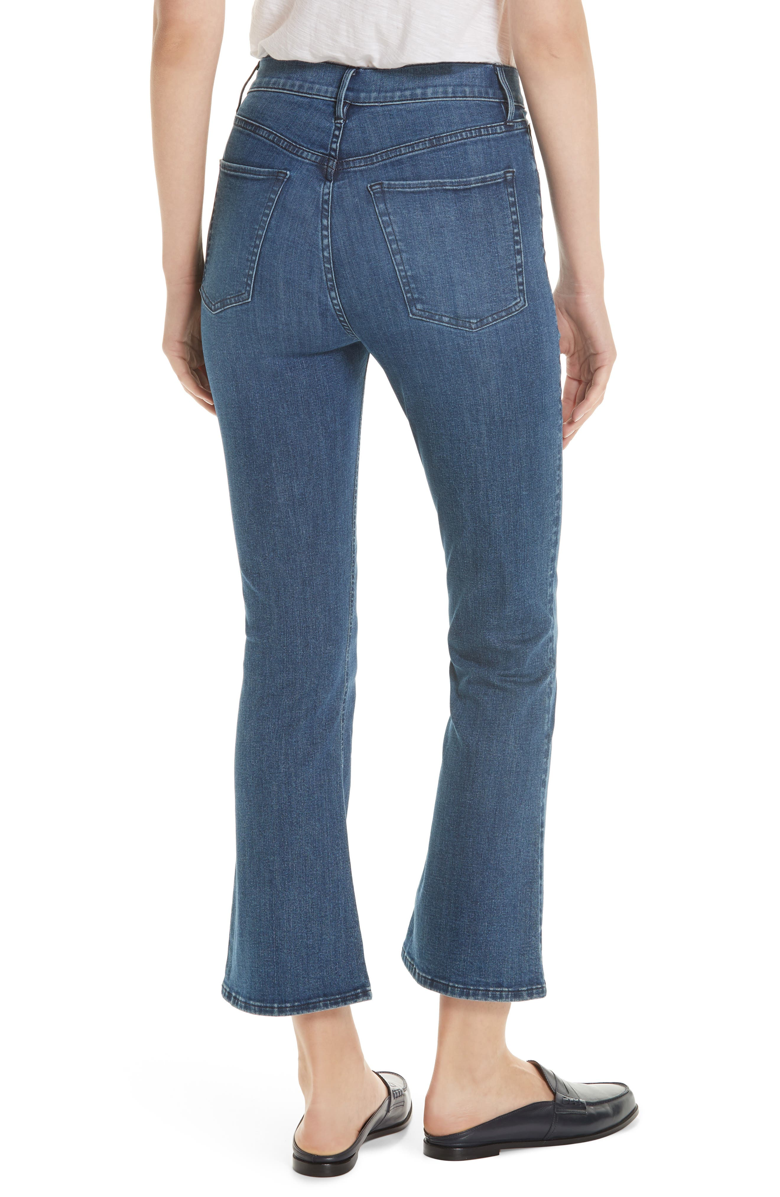 Crop Bootcut Jeans,                             Alternate thumbnail 2, color,                             ADRIANA