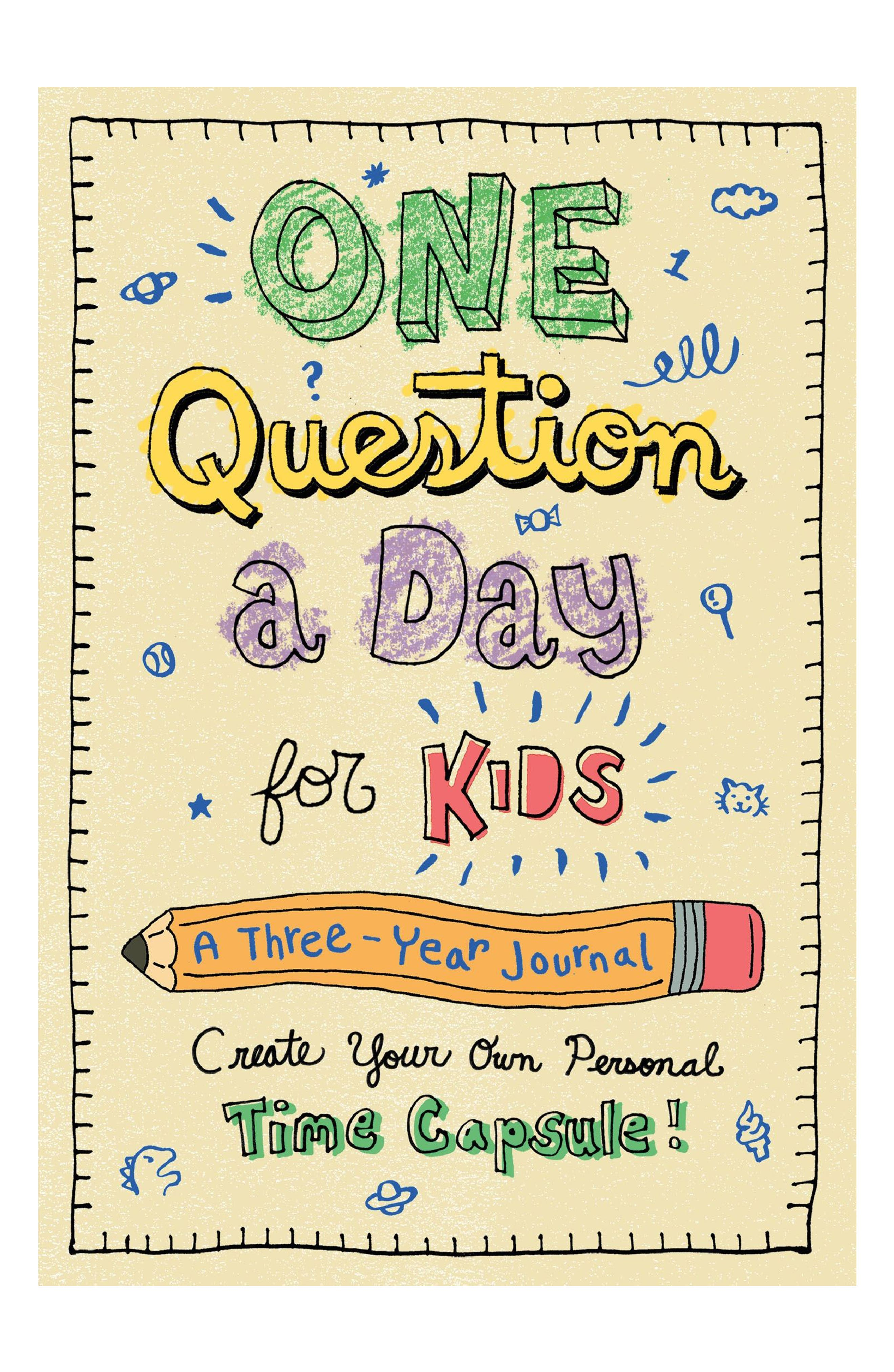 'One Question a Day for Kids' Three-Year Journal,                             Main thumbnail 1, color,                             BEIGE