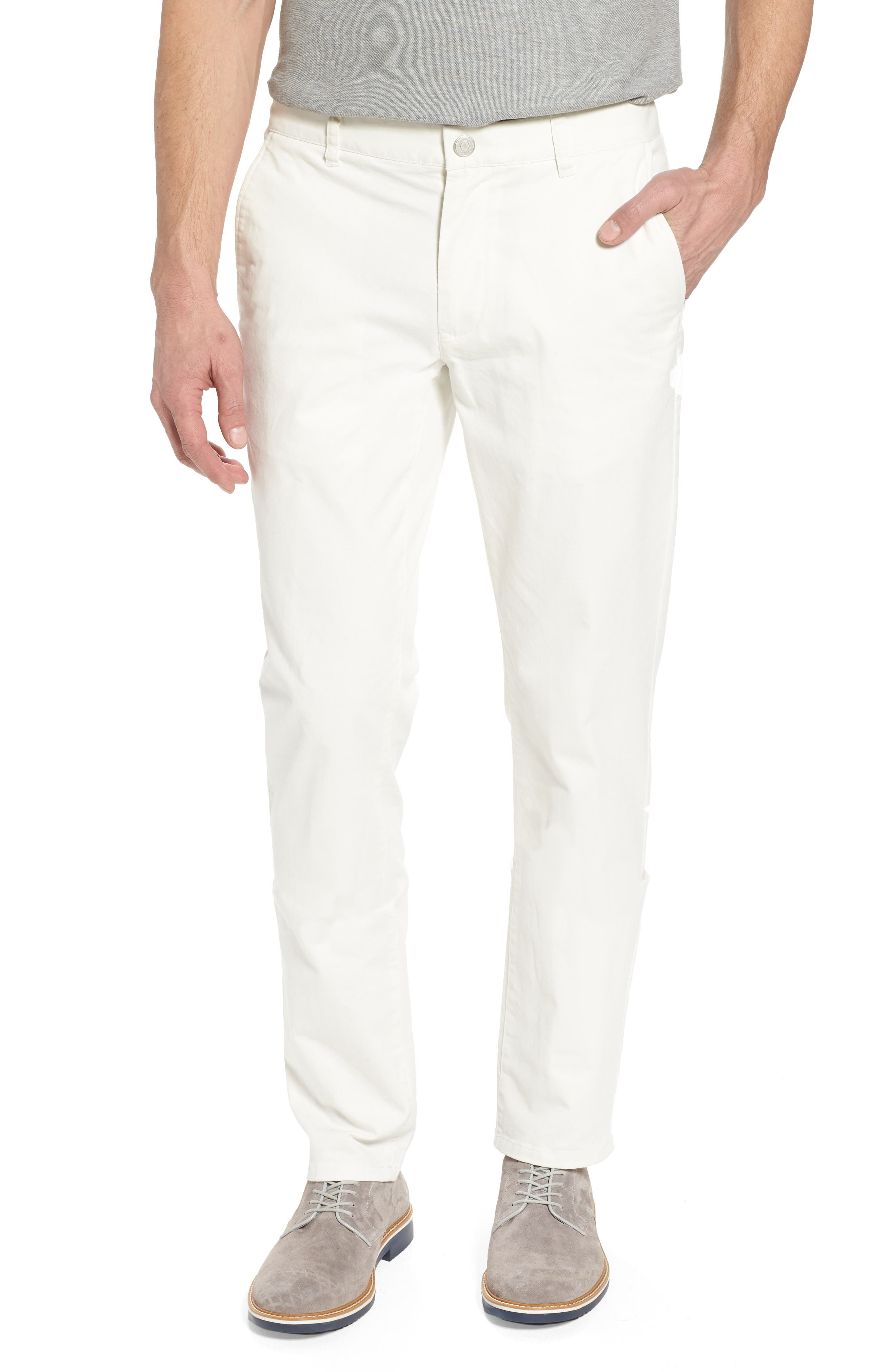 Tailored Fit Washed Stretch Cotton Chinos,                         Main,                         color, 100