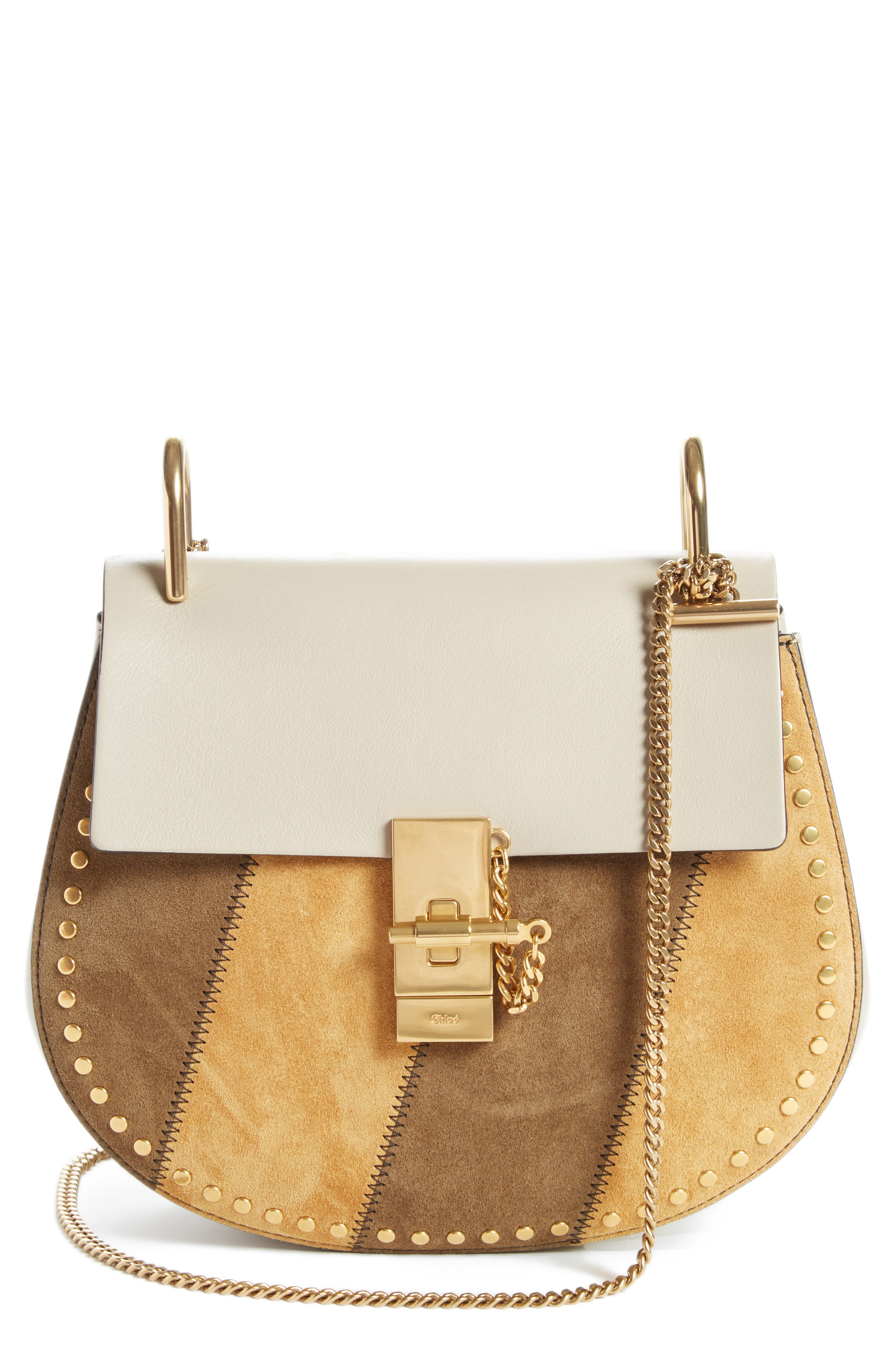 Small Drew Leather Shoulder Bag,                             Main thumbnail 1, color,                             052