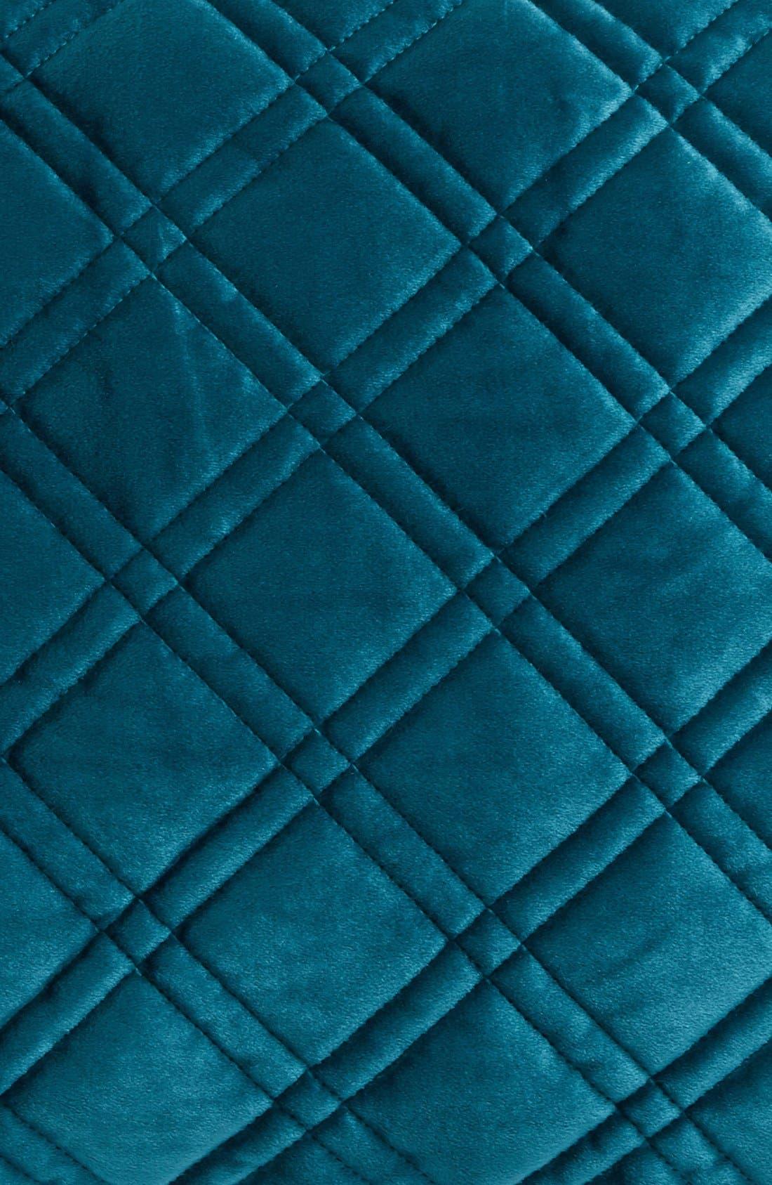Quilted Velvet Standard Sham,                             Alternate thumbnail 10, color,