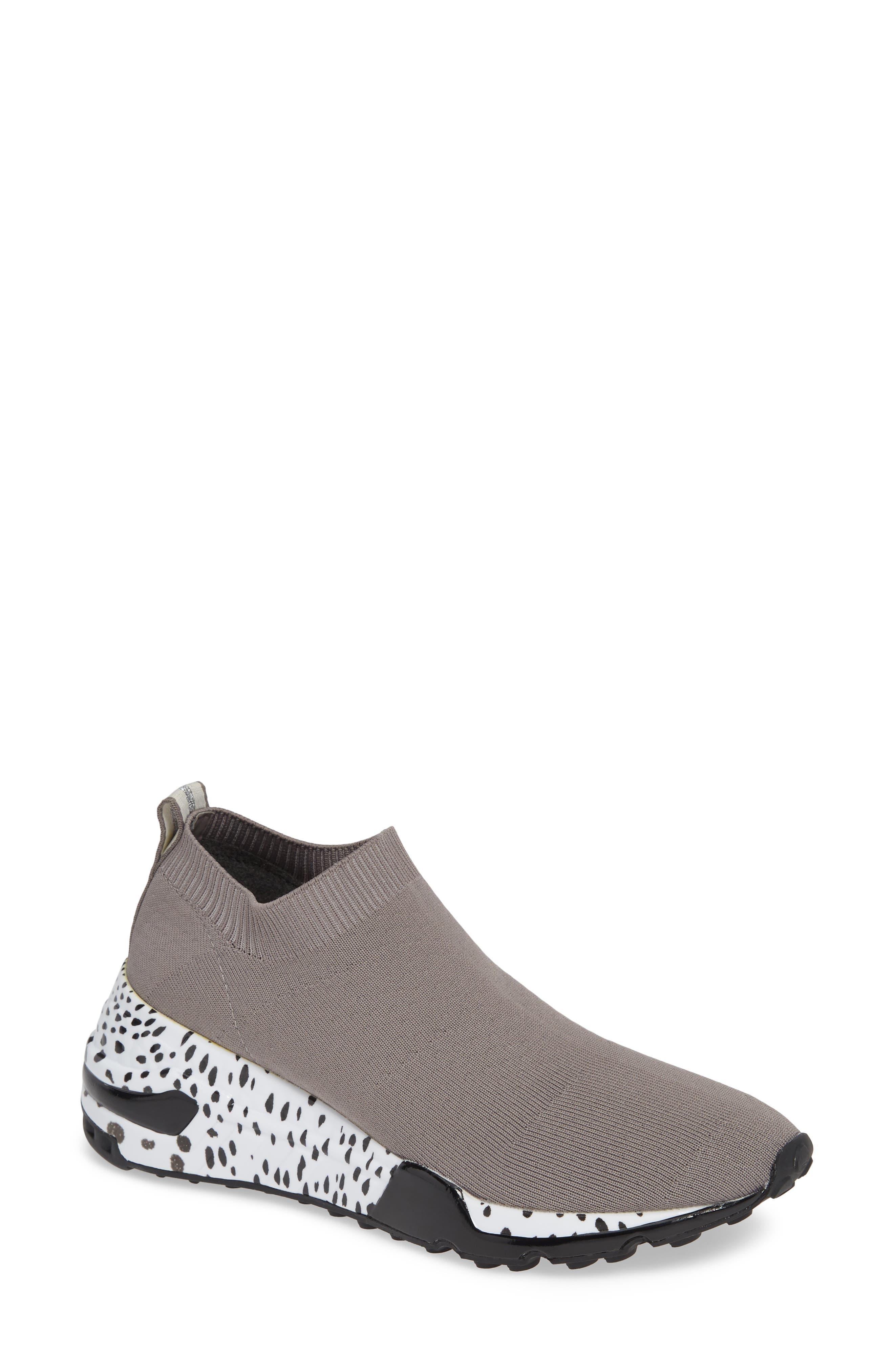 Cloud Sock Wedge Sneaker,                         Main,                         color, GREY