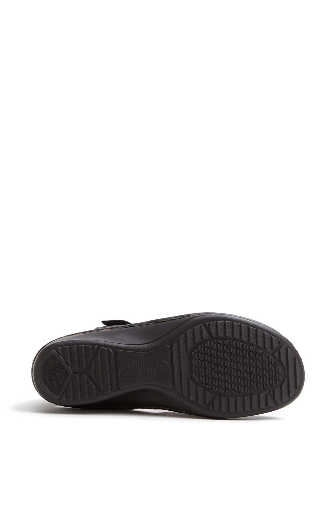 'Funnen' Sandal,                             Alternate thumbnail 4, color,                             BLACK