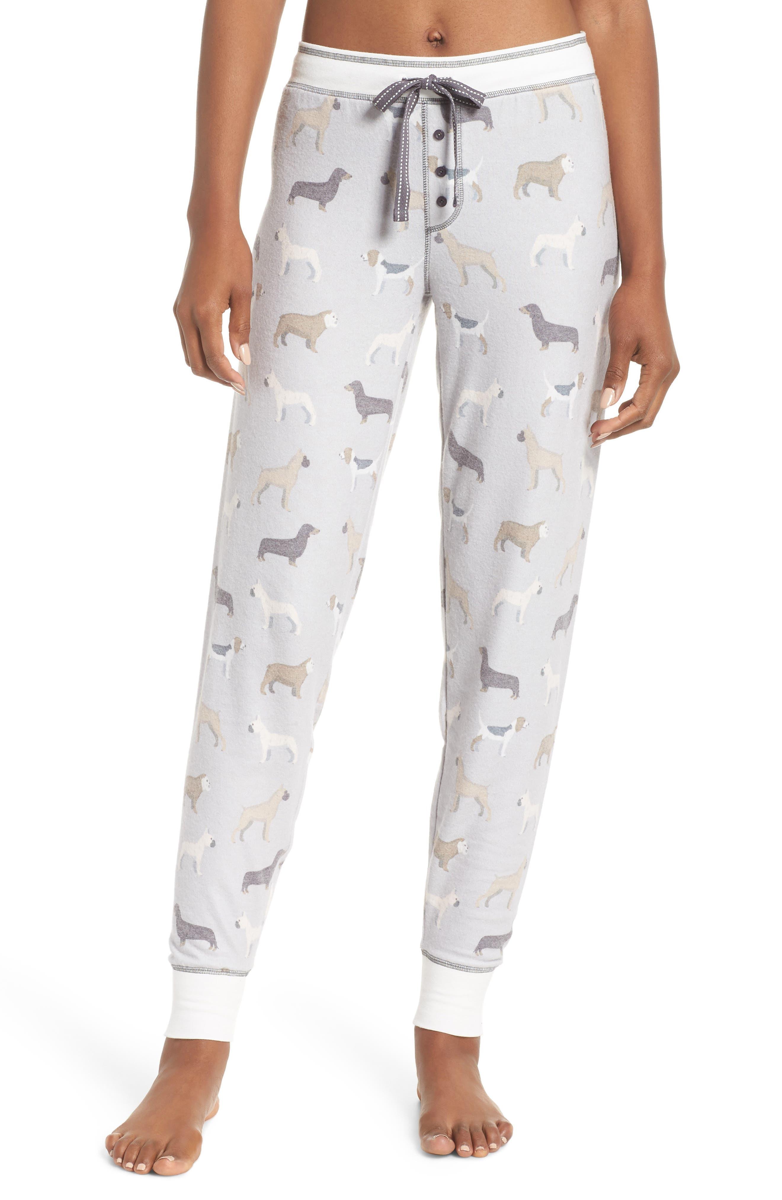 Banded Lounge Pants,                         Main,                         color, LIGHT GREY