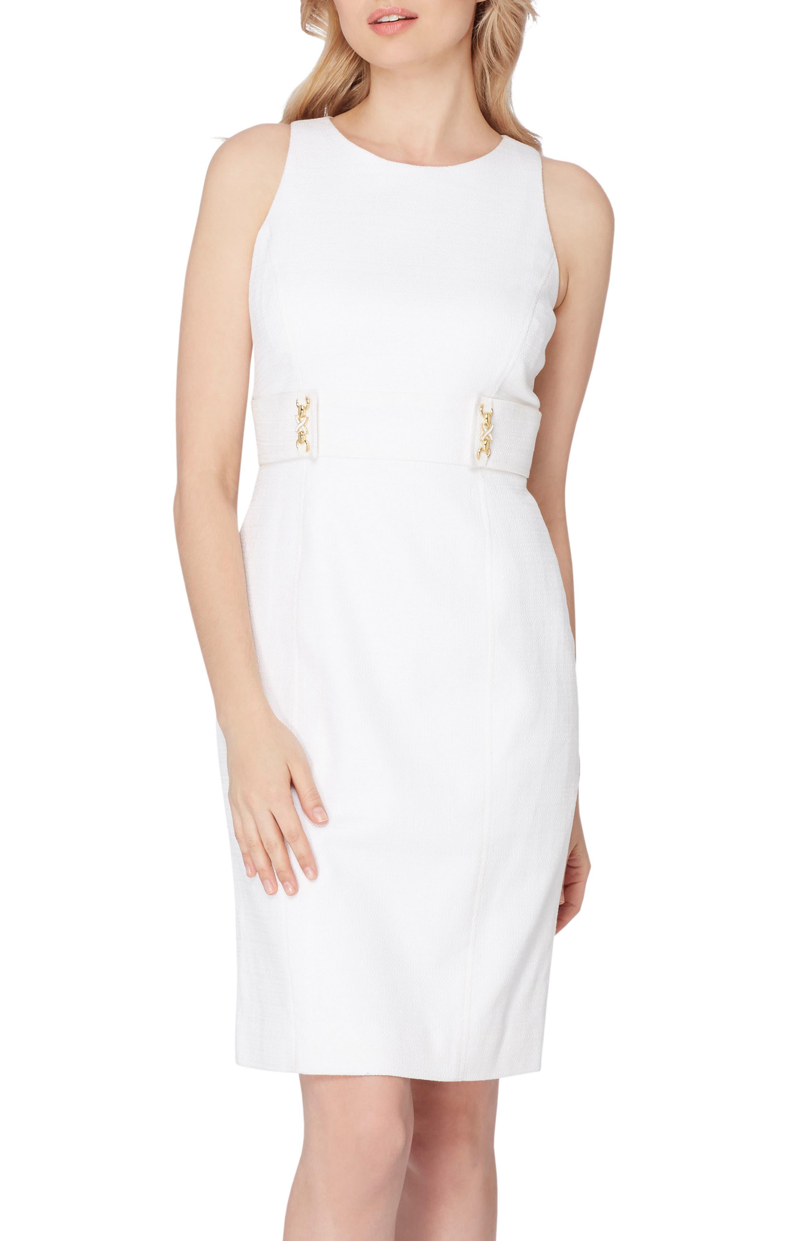 Textured Knit Sheath Dress,                             Main thumbnail 1, color,                             100