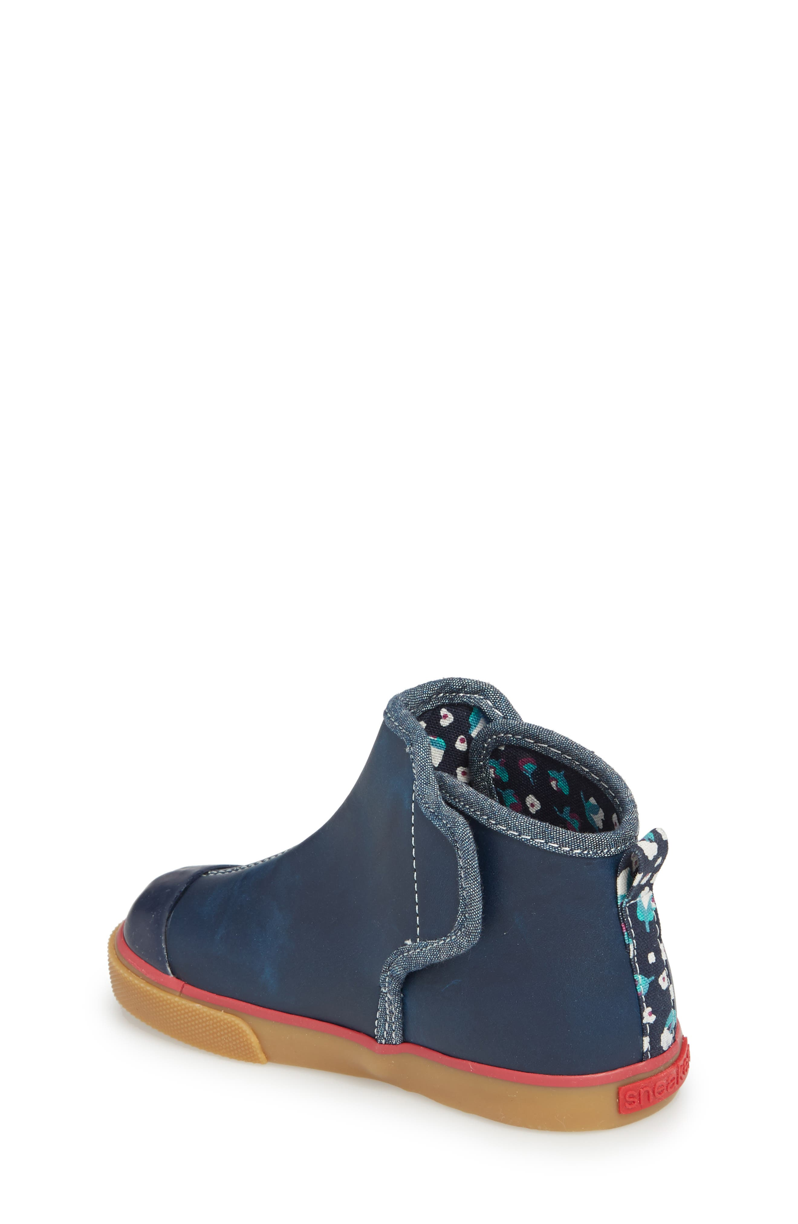 Mia Boot,                             Alternate thumbnail 2, color,                             NAVY LEATHER