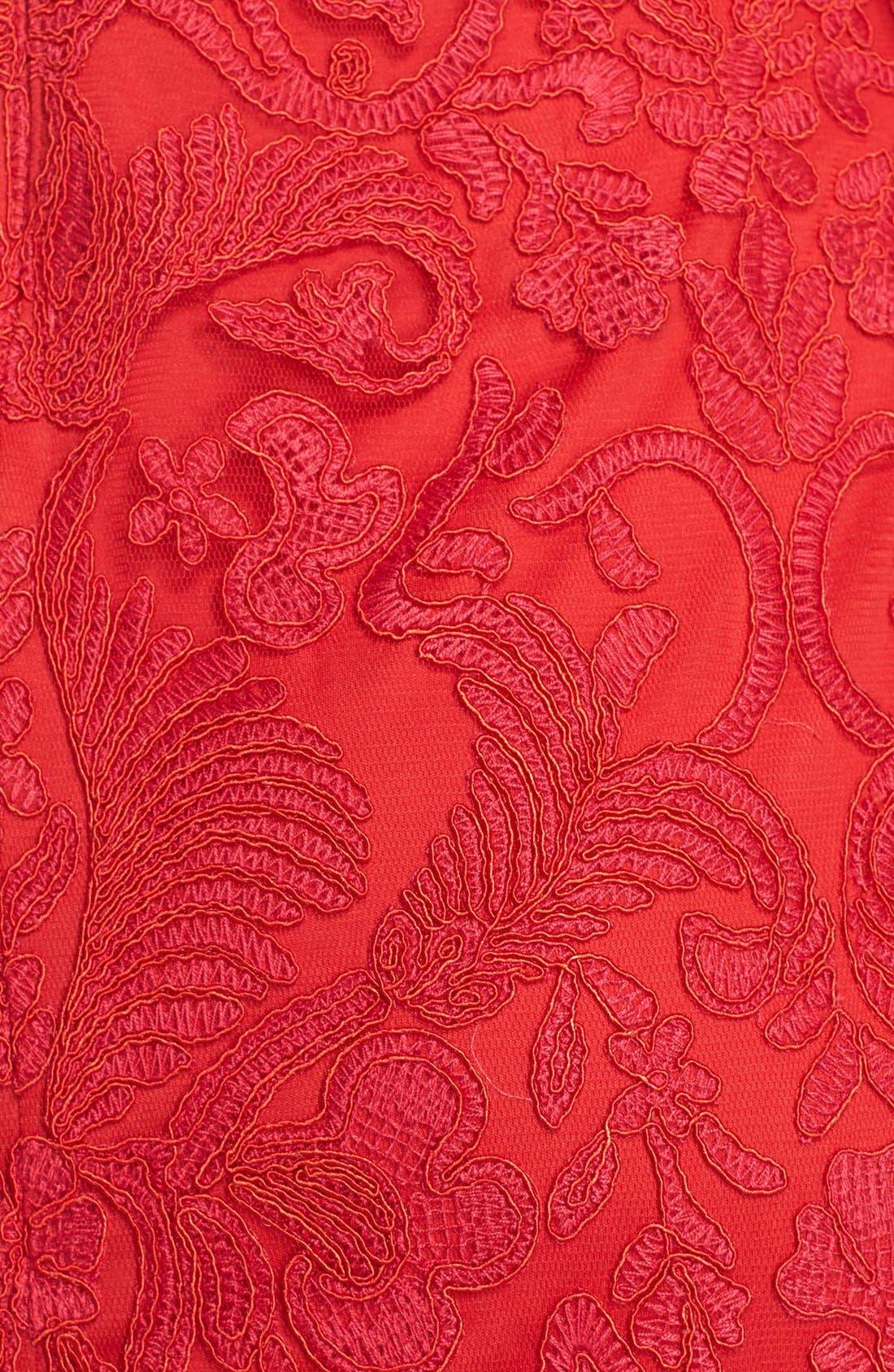 Illusion Yoke Lace Sheath Dress,                             Alternate thumbnail 59, color,