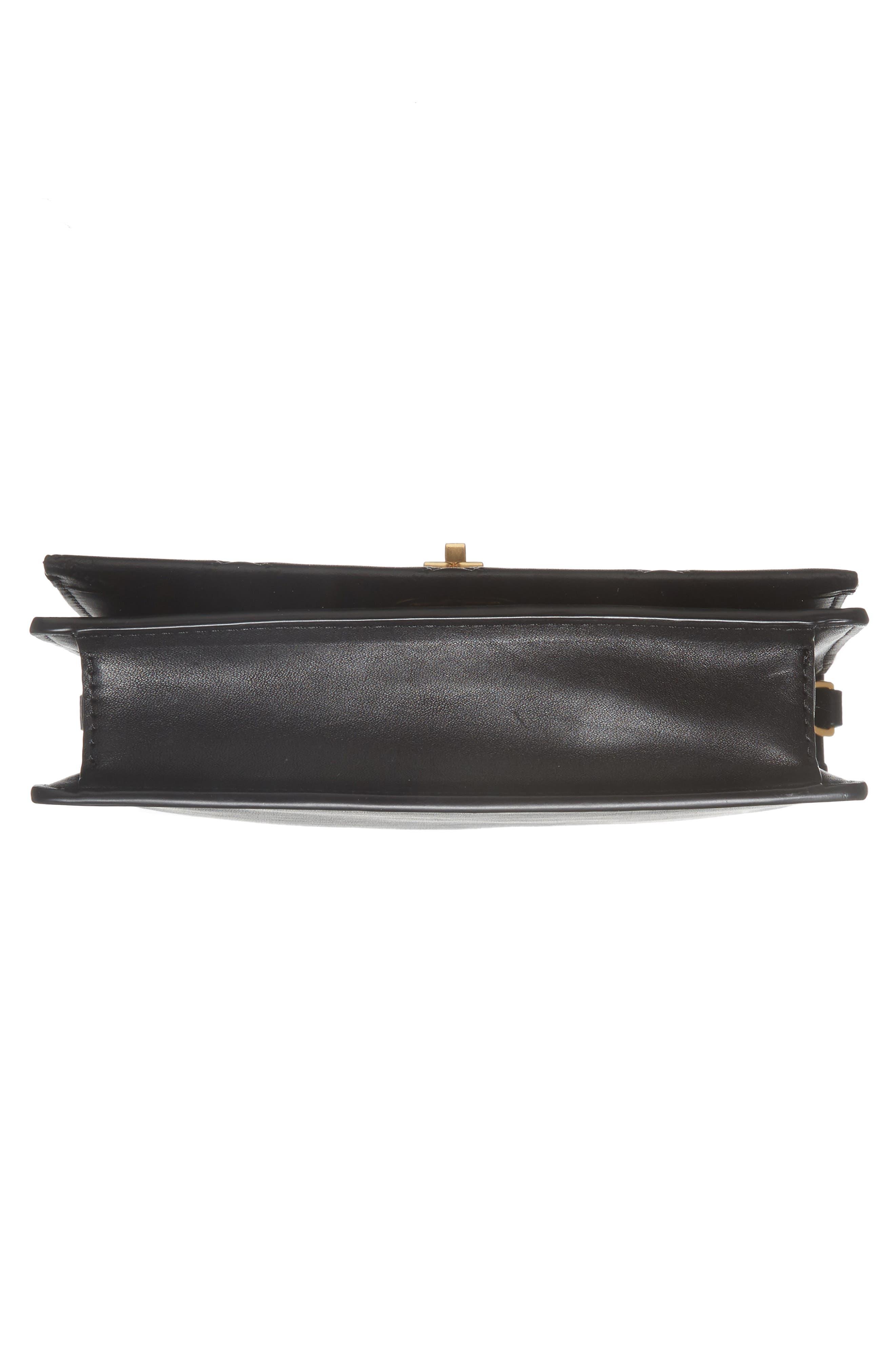 Mini Georgia Quilted Leather Shoulder Bag,                             Alternate thumbnail 6, color,                             001