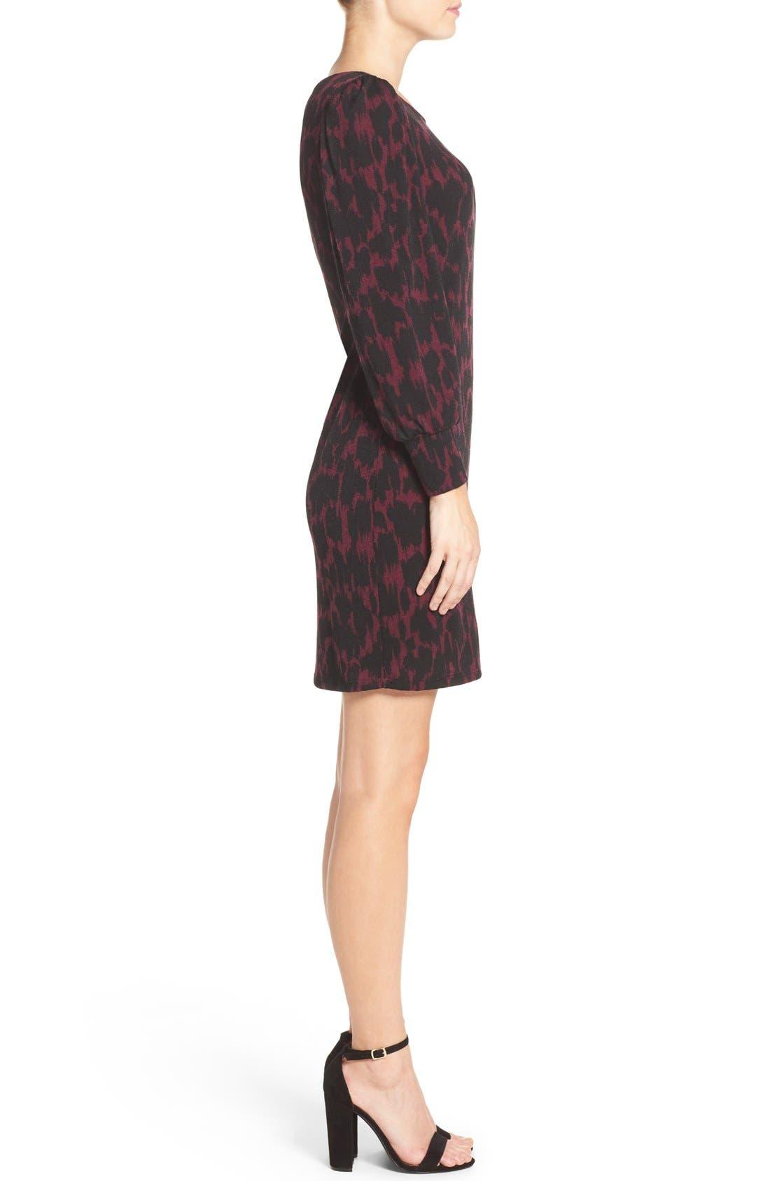 LEOTA,                             'Kate' Static Print Jersey Shift Dress,                             Alternate thumbnail 3, color,                             006