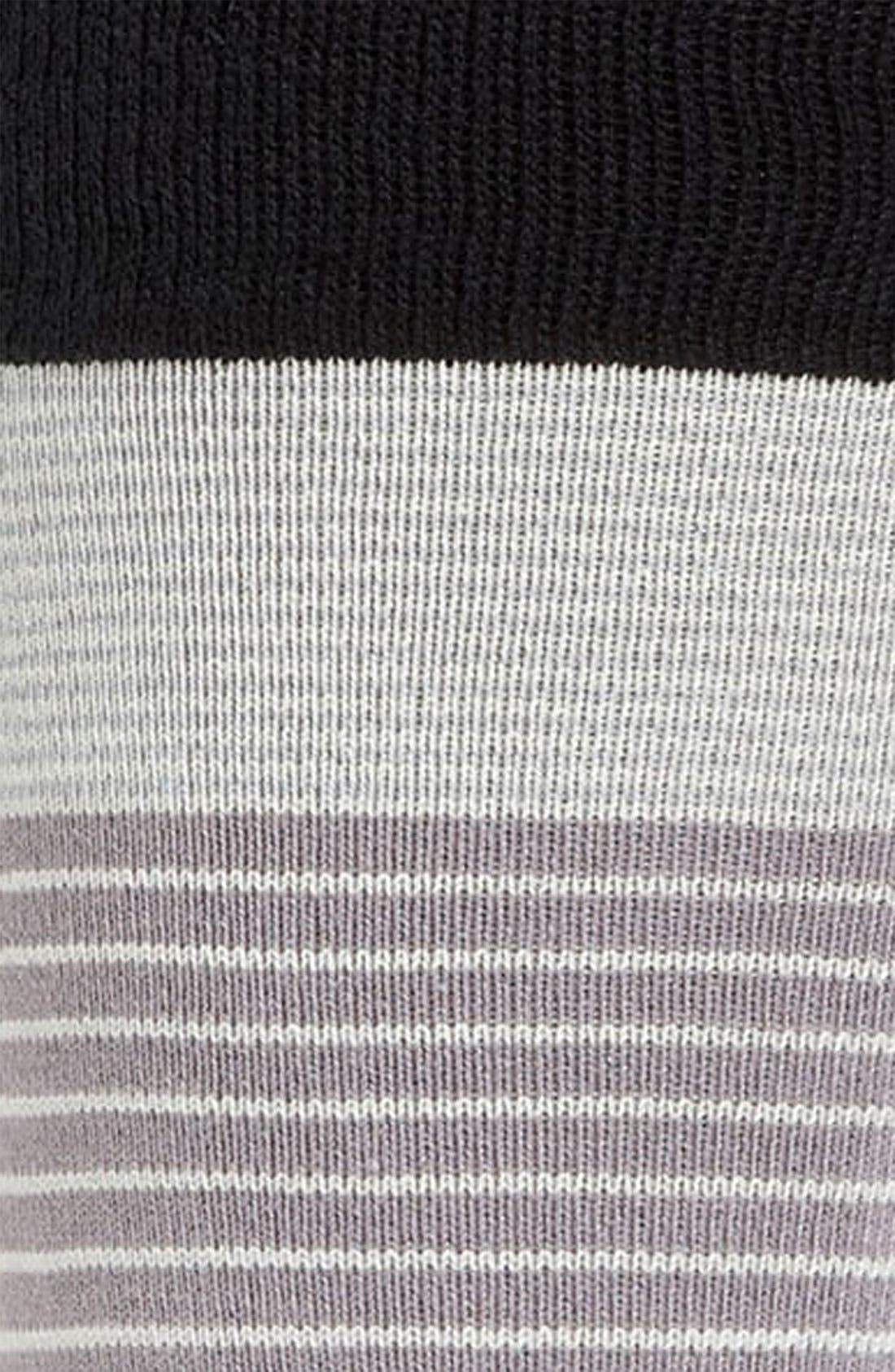 PAUL SMITH,                             Accessories Colorblock Stripe Socks,                             Alternate thumbnail 2, color,                             001