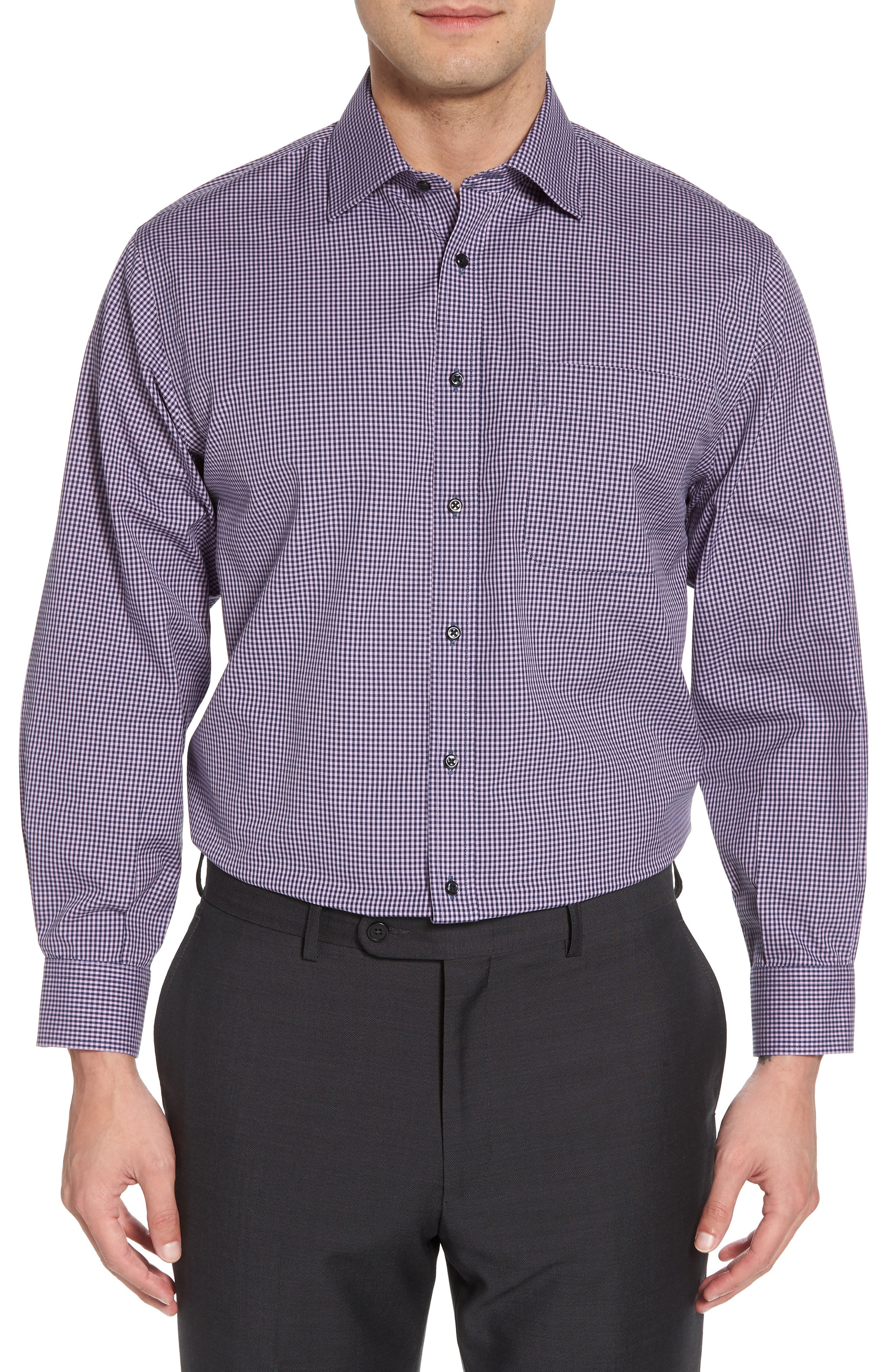 Smartcare Classic Fit Check Dress Shirt,                             Main thumbnail 3, color,