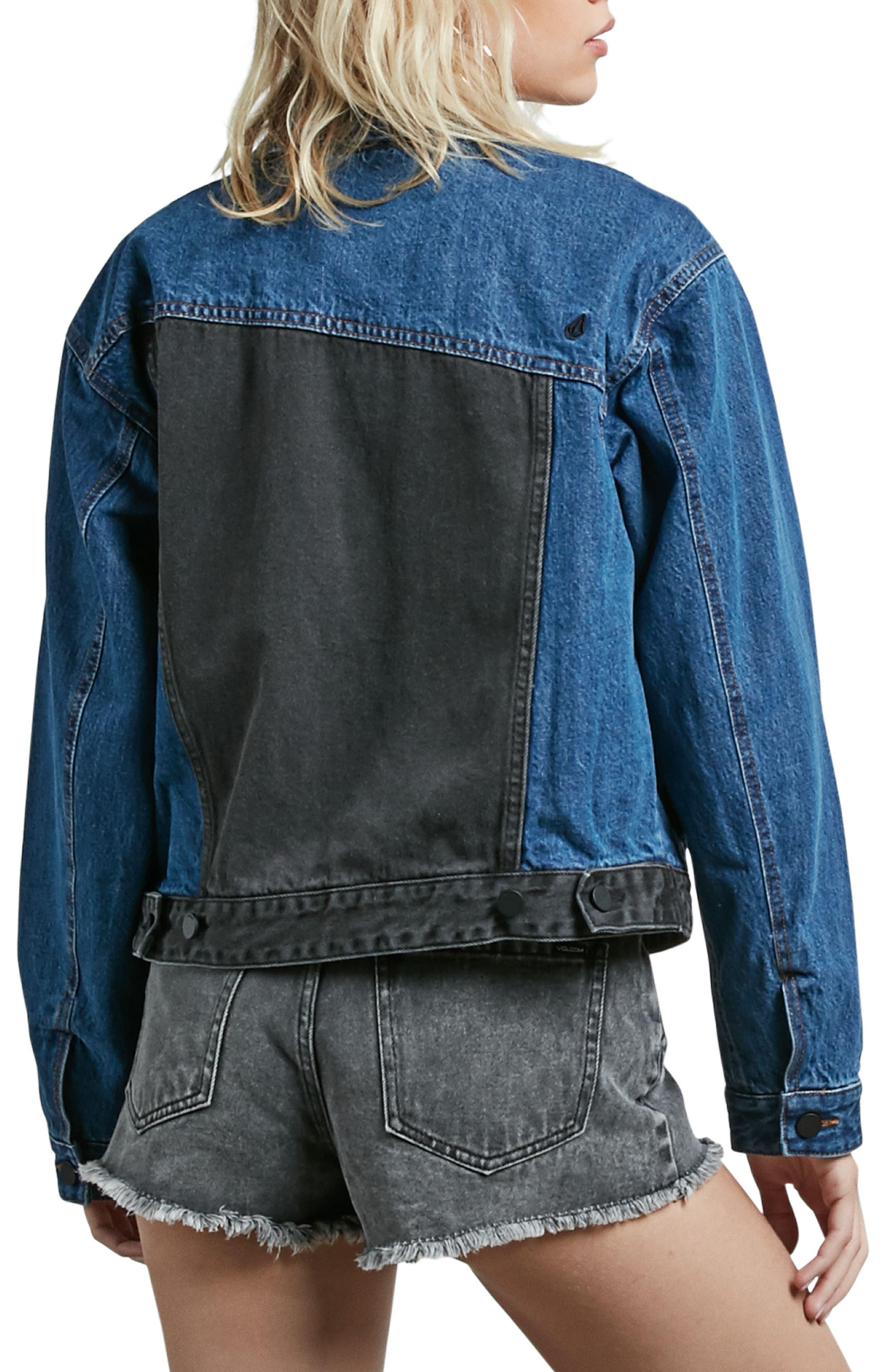 1991 Colorblock Denim Jacket,                             Alternate thumbnail 2, color,