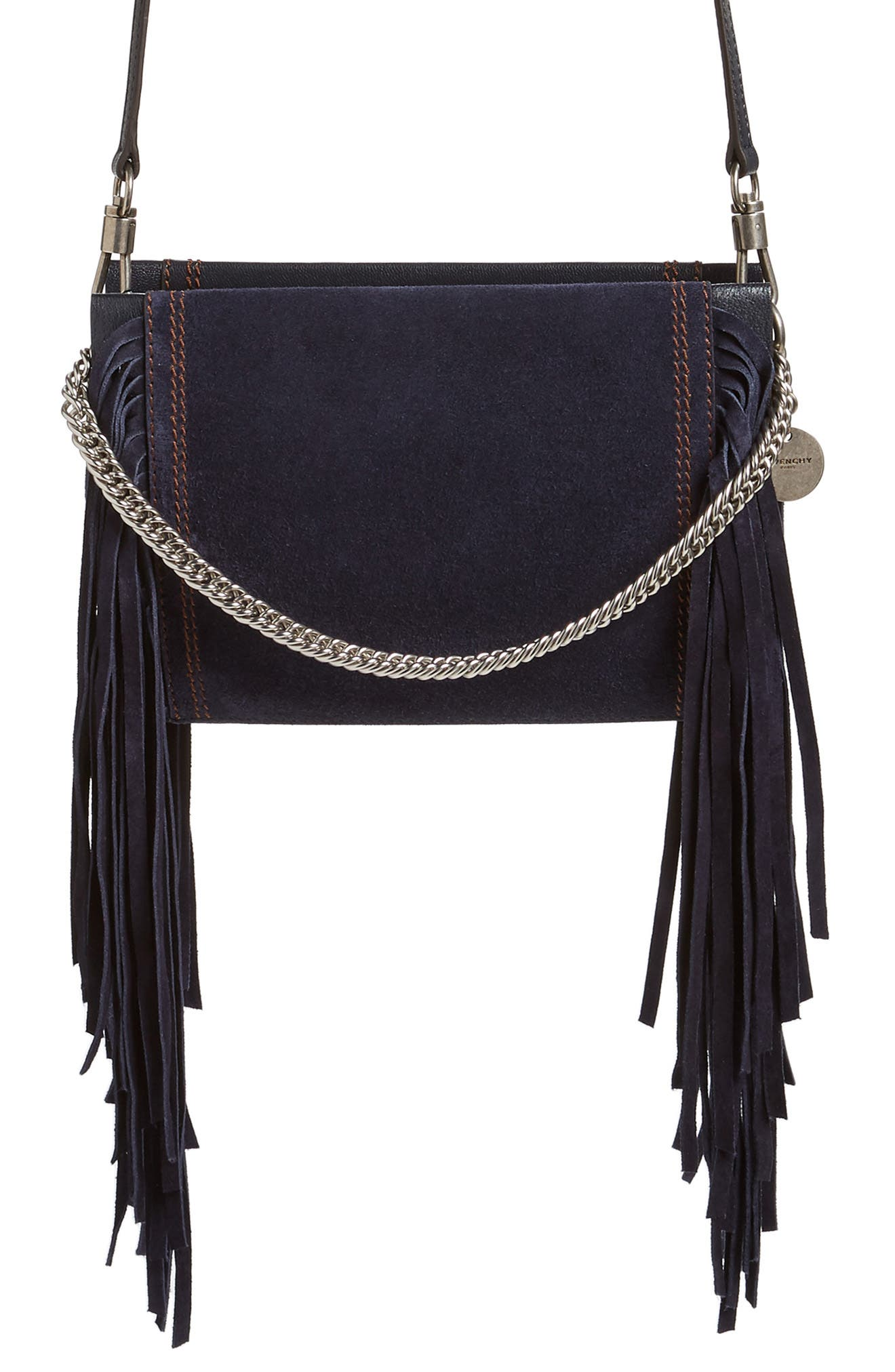 Cross 3 Fringe Leather Crossbody Bag,                             Main thumbnail 1, color,                             401