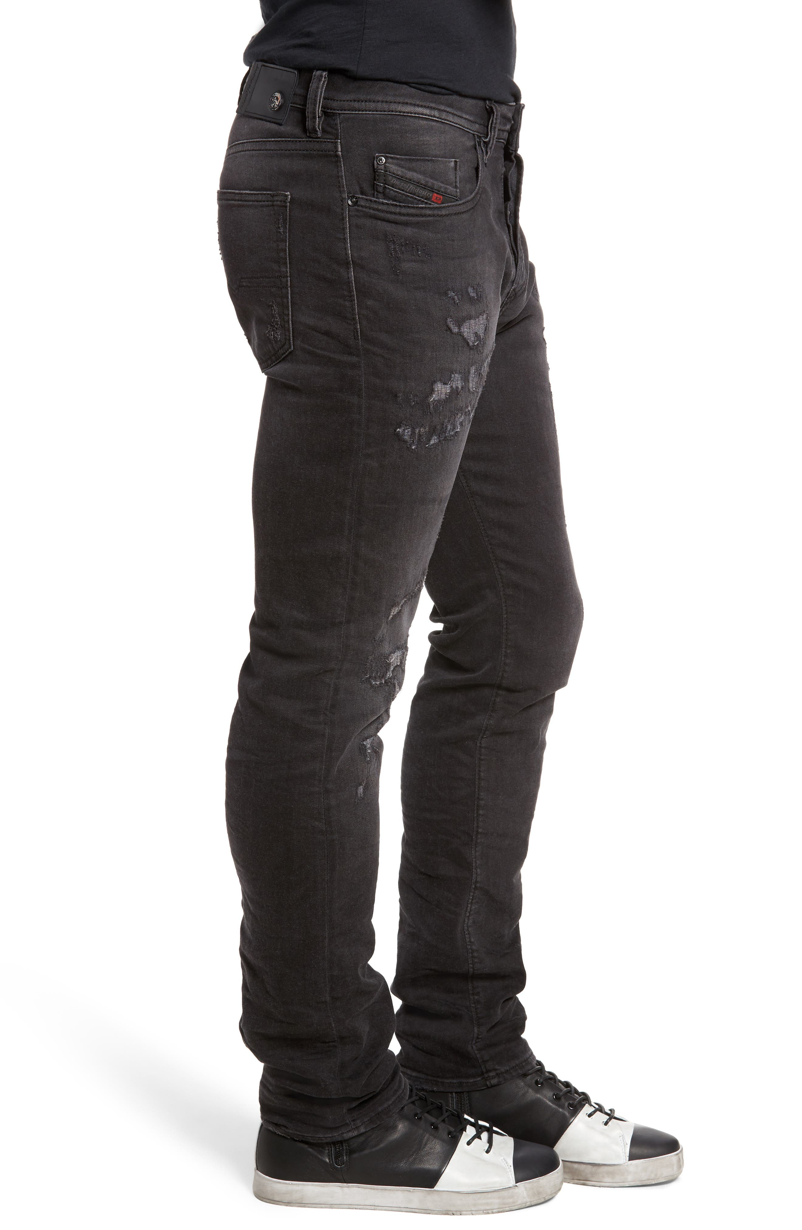 Buster Slim Straight Fit Jeans,                             Alternate thumbnail 3, color,                             008